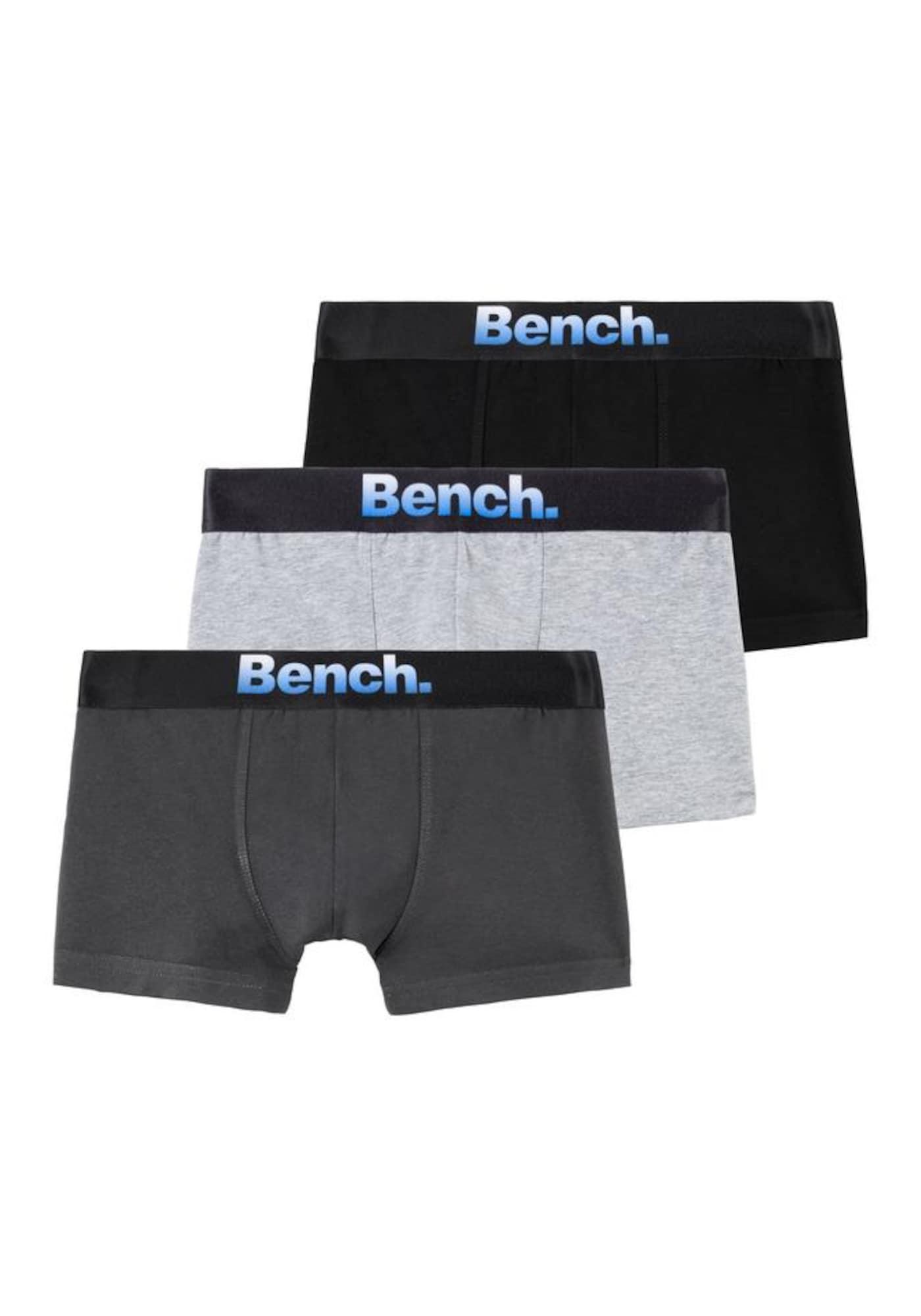 BENCH Apatinės kelnaitės margai balta / tamsiai pilka / juoda