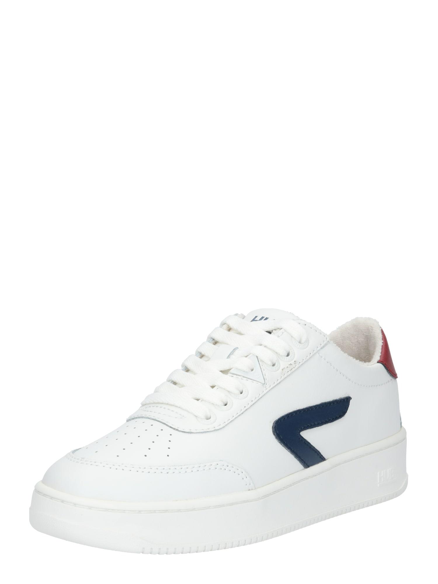 HUB Tenisky 'Baseline'  bílá / námořnická modř / červená