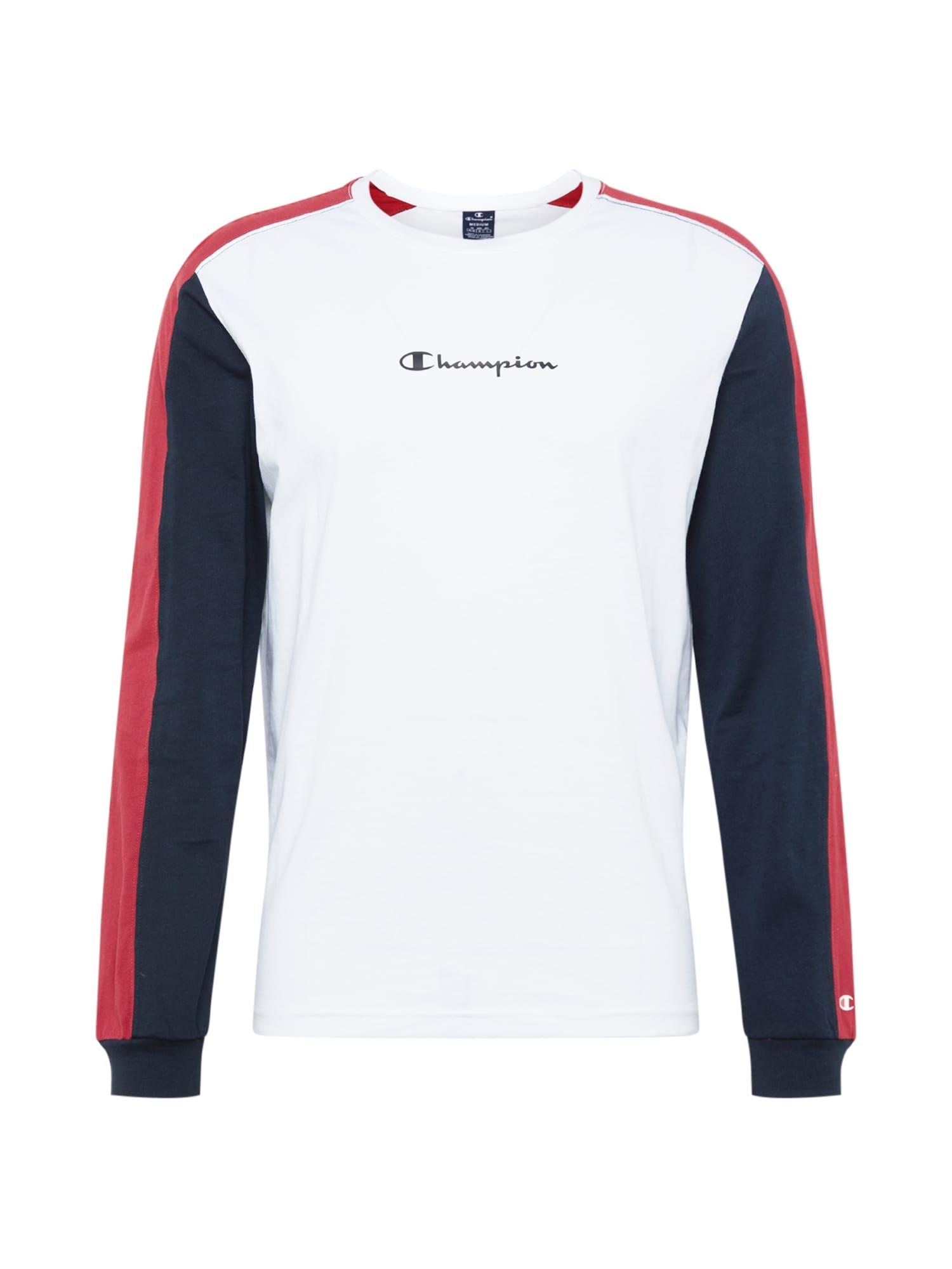 Champion Authentic Athletic Apparel Marškinėliai tamsiai mėlyna / balta / pastelinė raudona