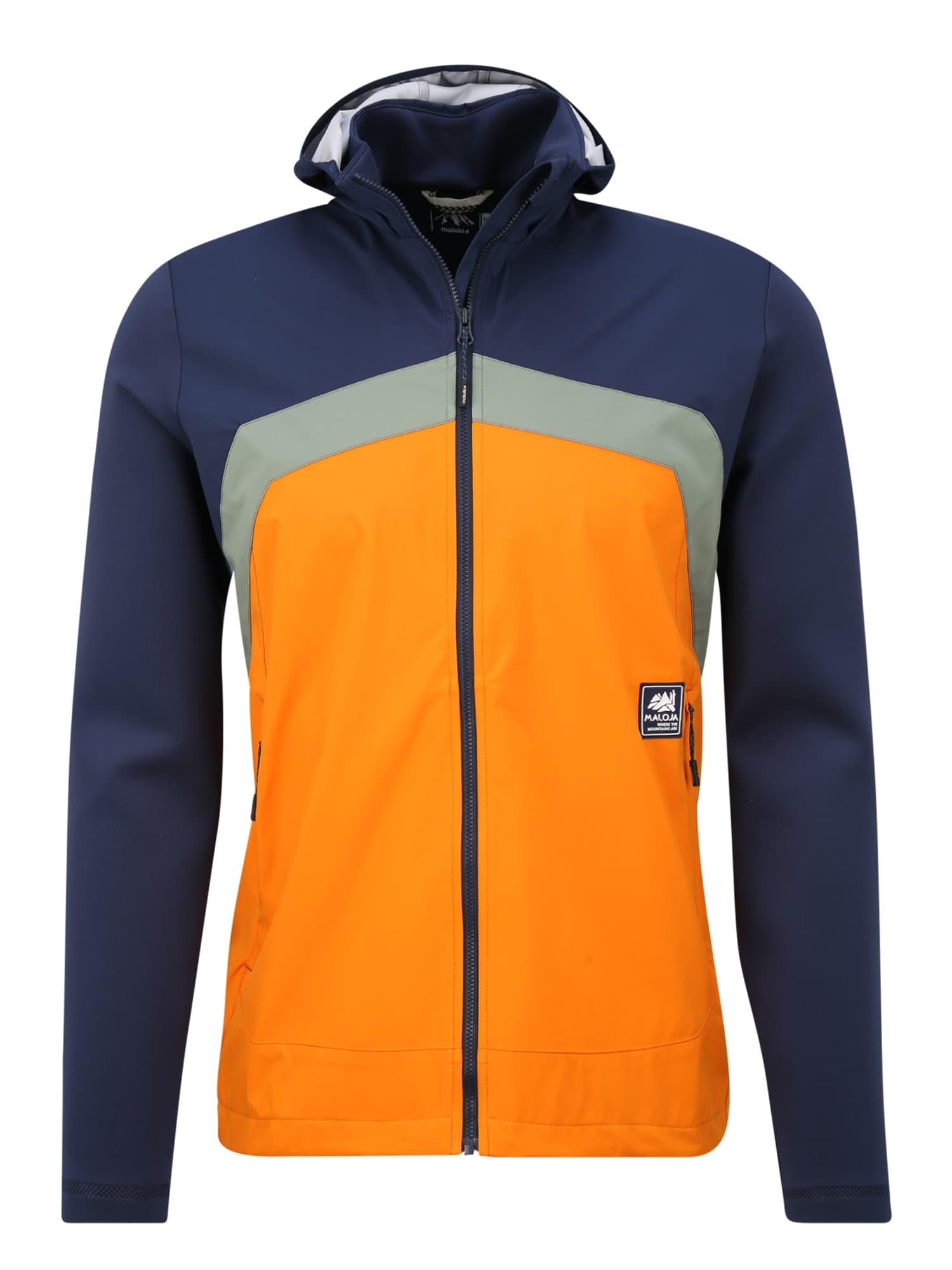 Maloja Sportinė striukė nakties mėlyna / oranžinė
