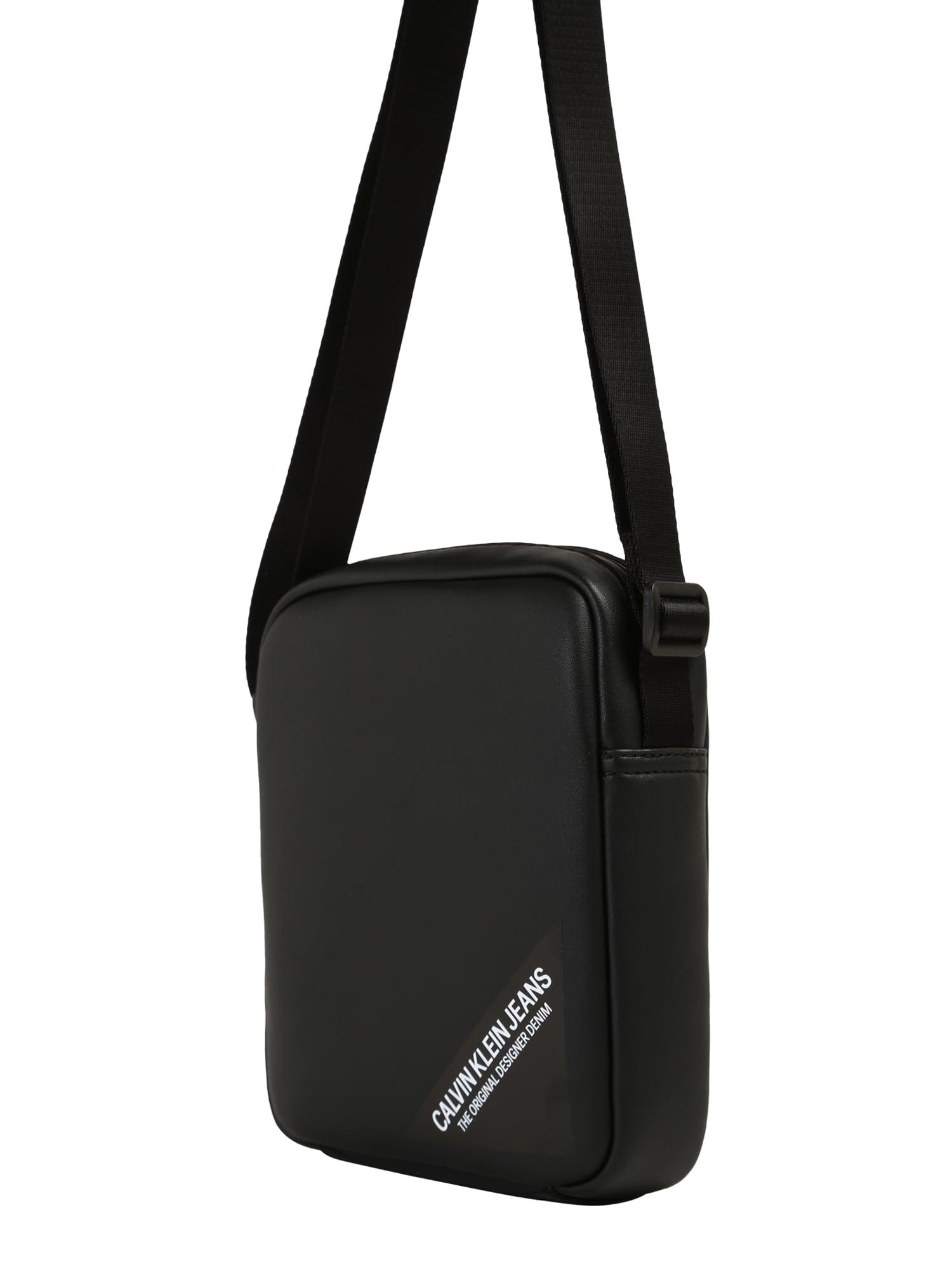 Calvin Klein Jeans Rankinė su ilgu dirželiu 'STITCH' juoda