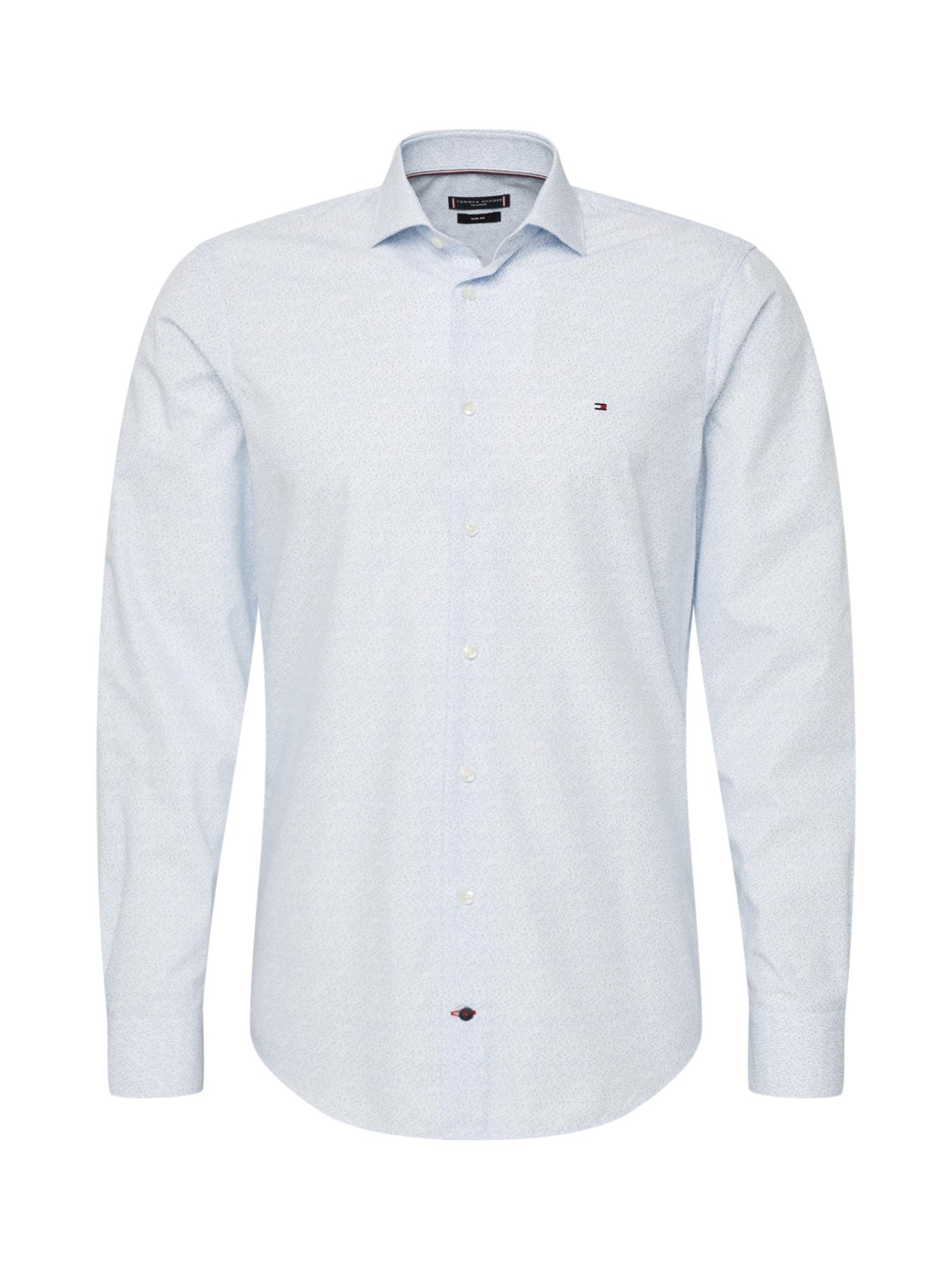 Tommy Hilfiger Tailored Košeľa 'FLORAL CLASSIC SLIM'  svetlomodrá