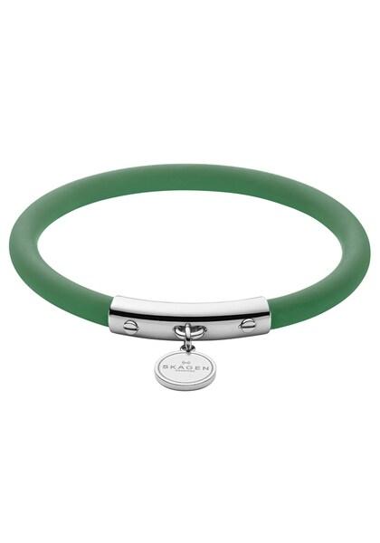 Armbaender für Frauen - Armband 'SKJ1282040' › skagen › grün silber  - Onlineshop ABOUT YOU