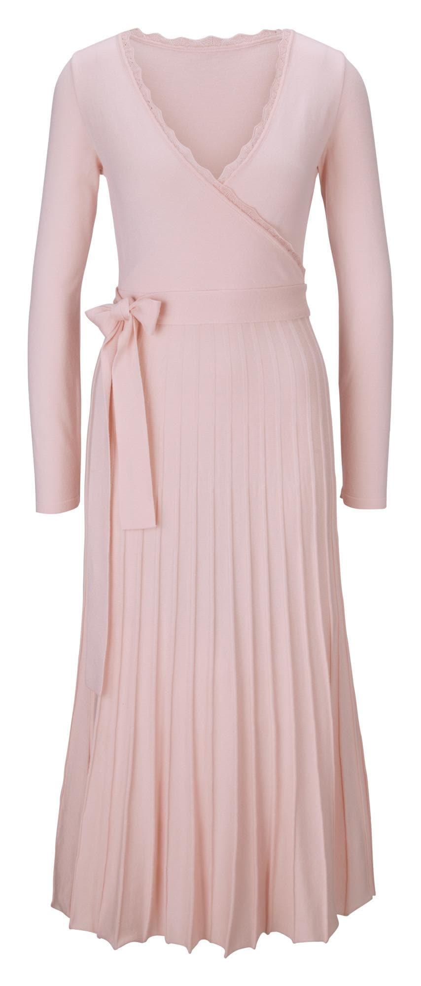 heine Úpletové šaty  pastelově růžová