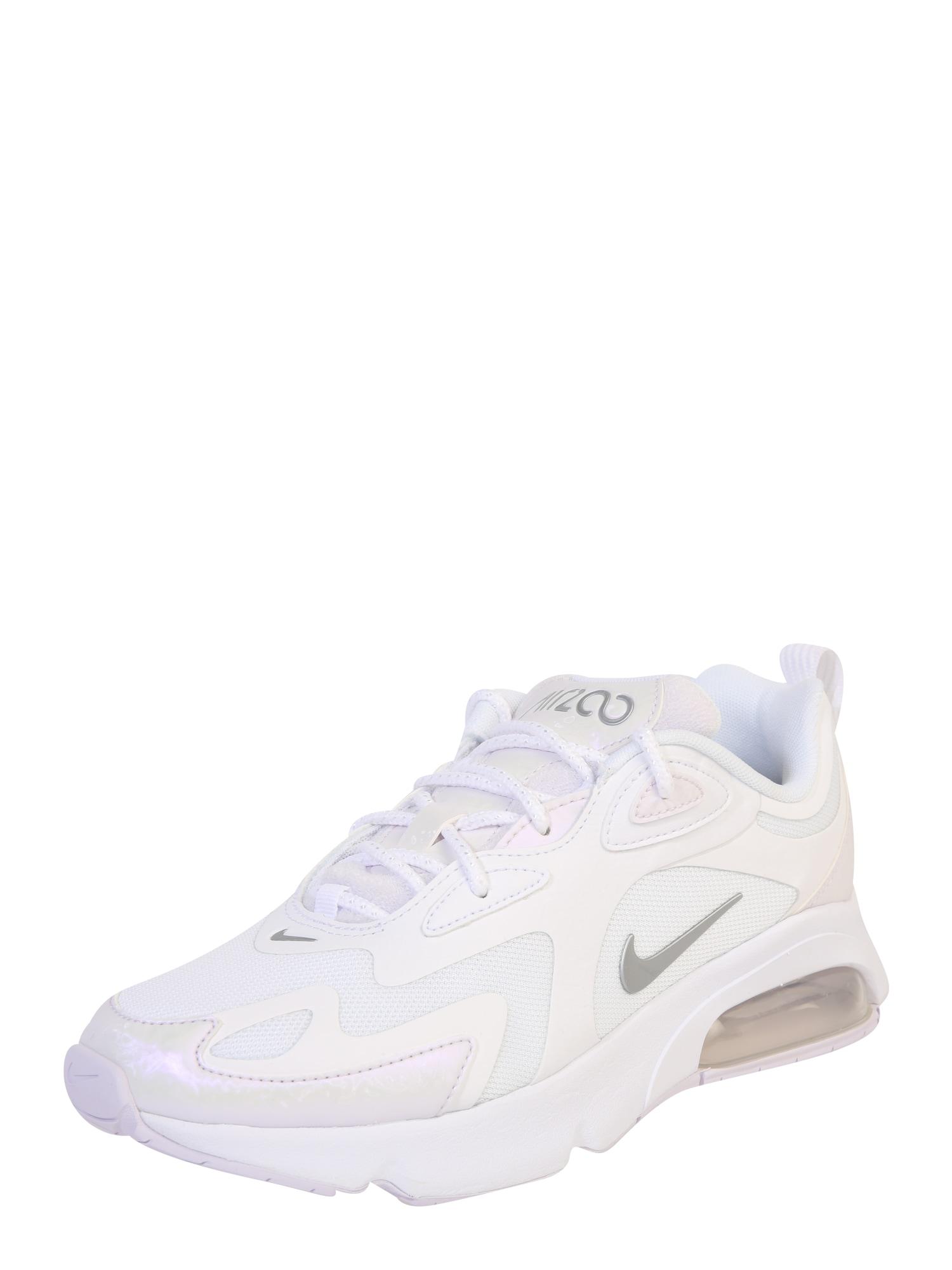 NIKE Sportiniai batai 'AIR MAX 200' balta / sidabras