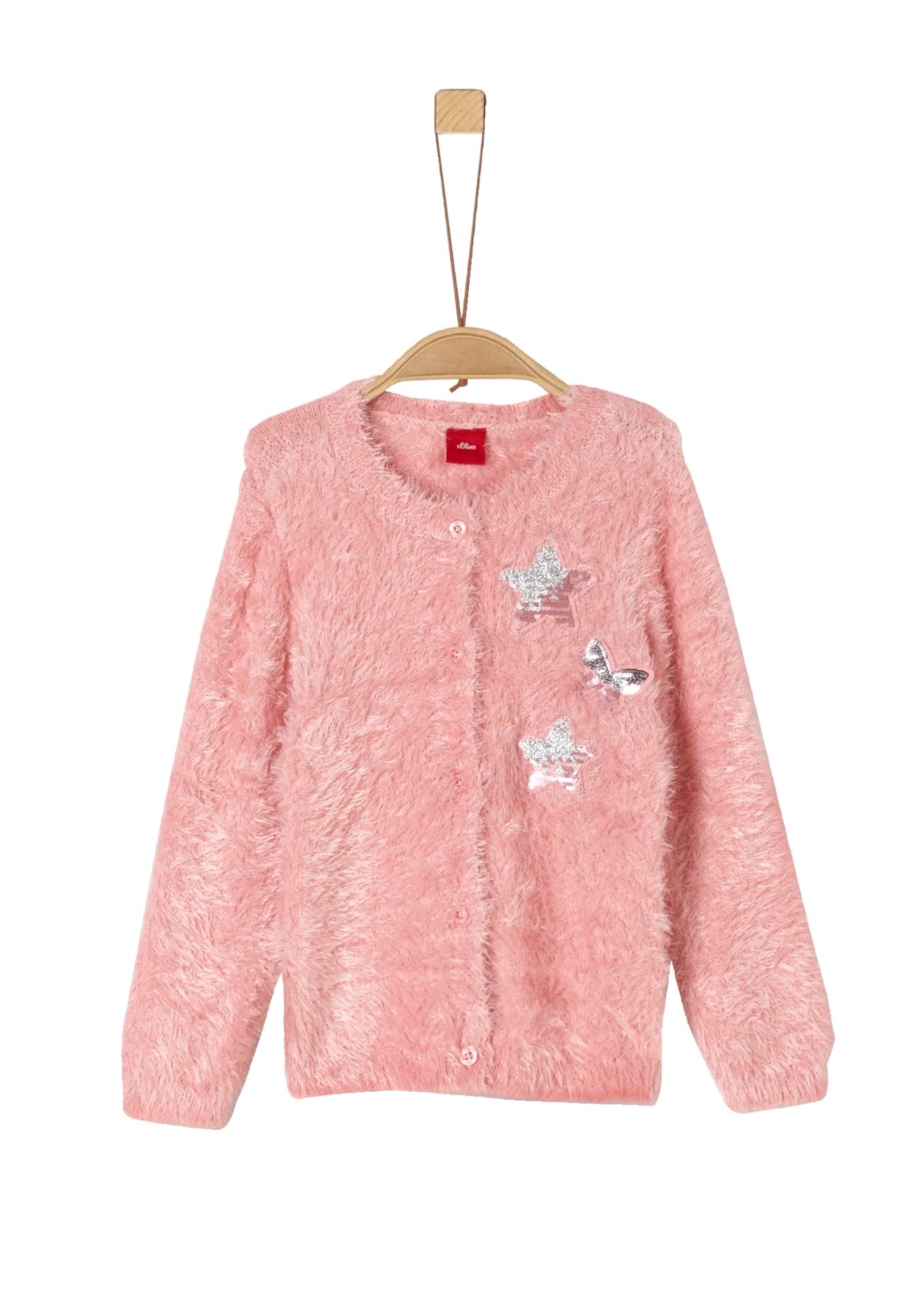 s.Oliver Junior Kardiganas sidabras / ryškiai rožinė spalva