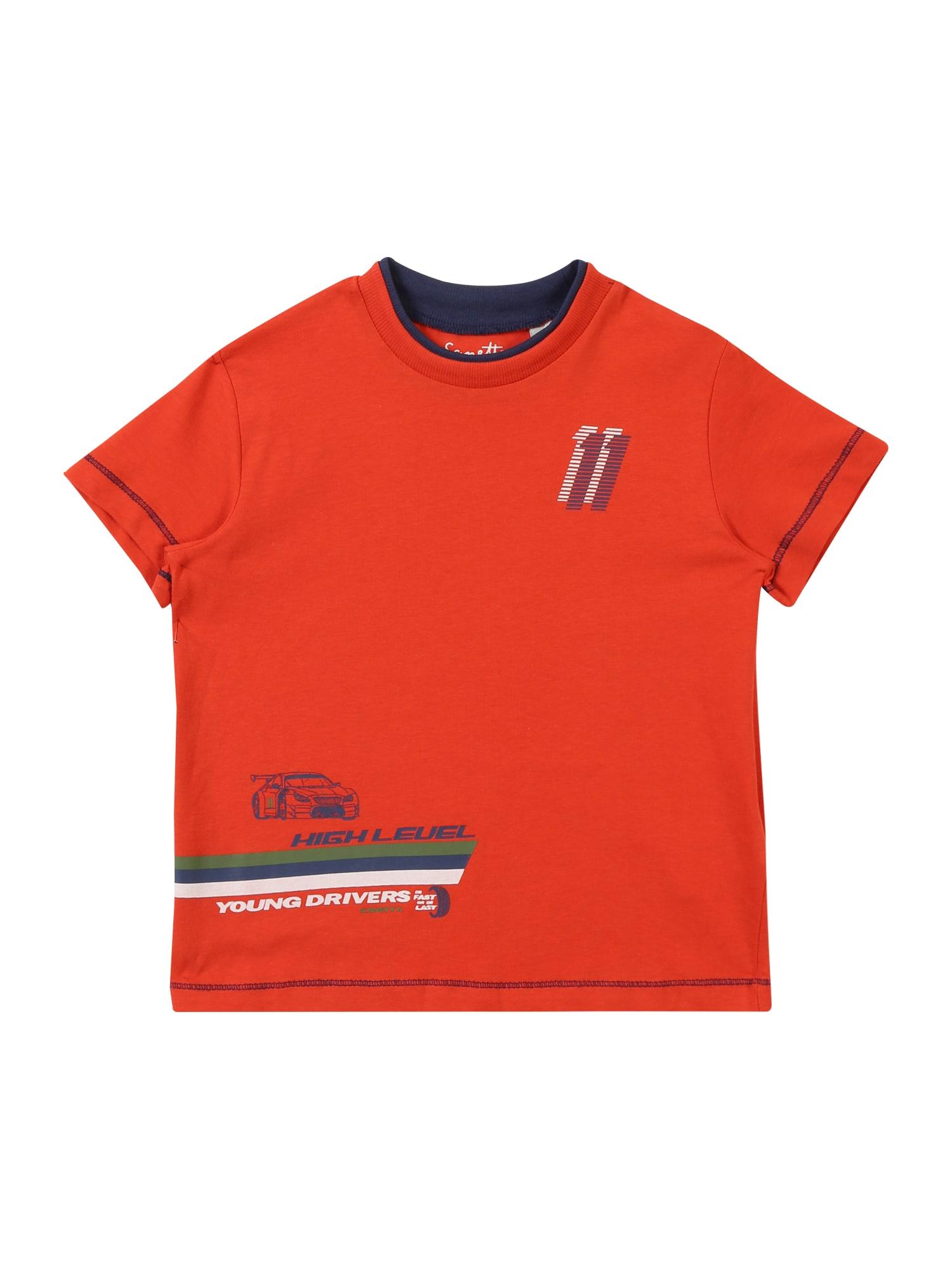Tričko červená Sanetta Kidswear
