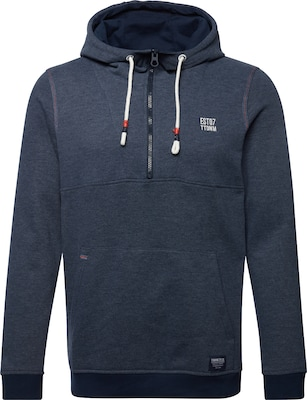 TOM TAILOR DENIM Sweatshirt 'mélange hoody with embroidery'