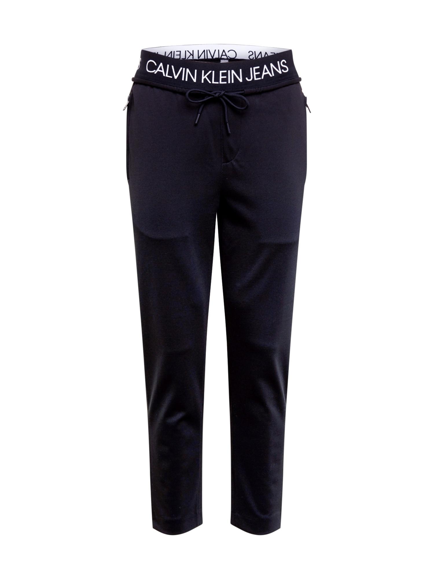 Calvin Klein Kelnės 'MILANO' balta / juoda