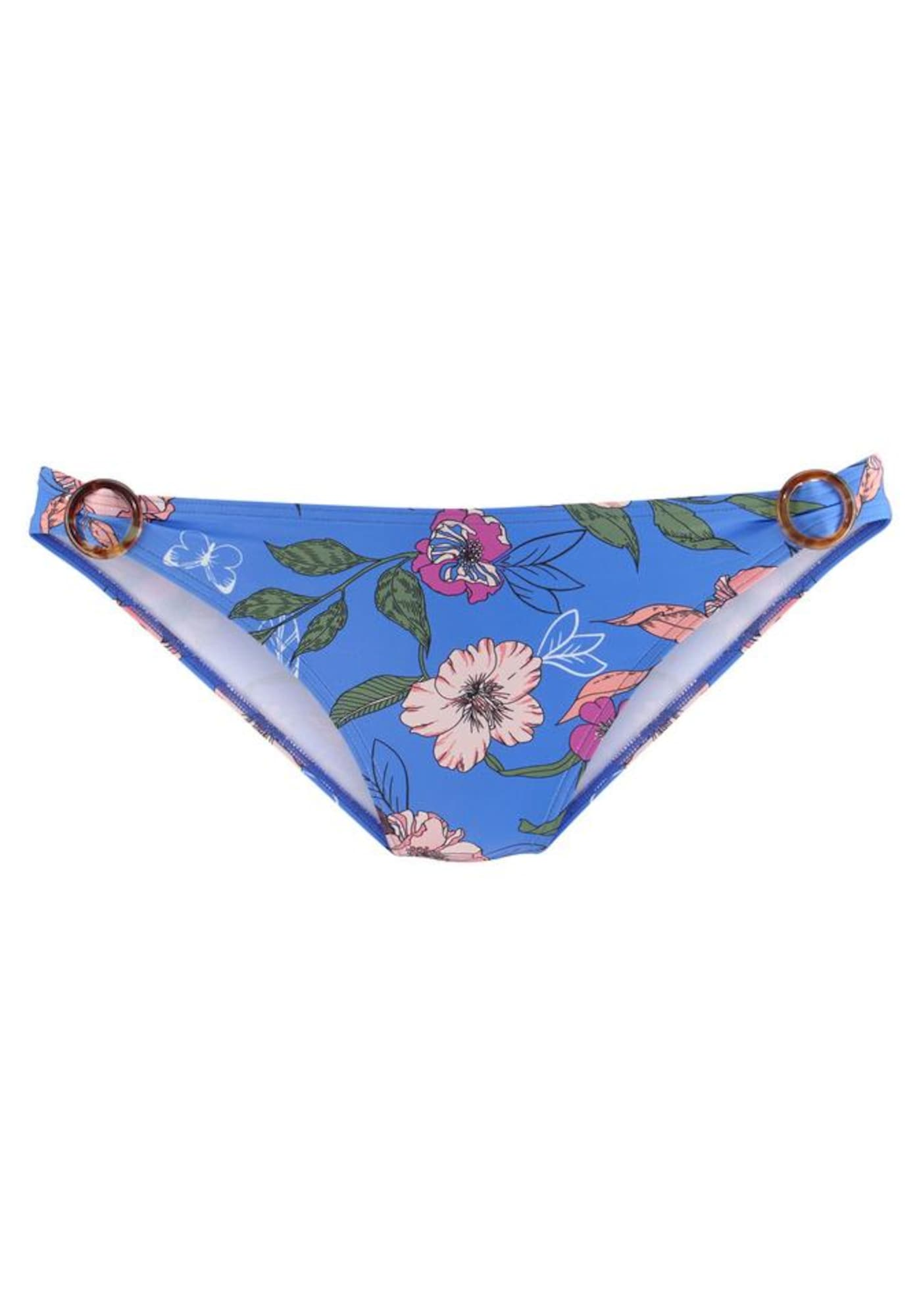 s.Oliver Bikinio kelnaitės mėlyna / žalia / rožių spalva / purpurinė