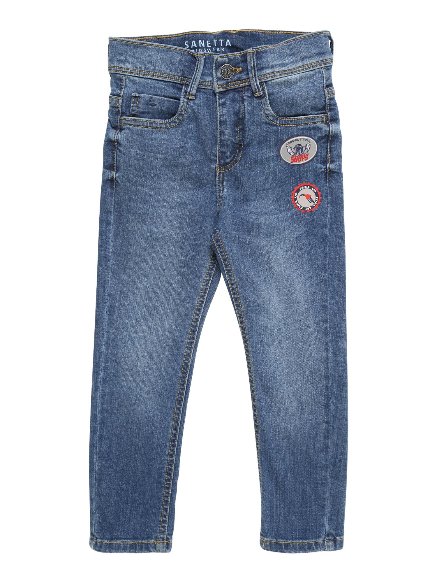 Džíny modrá džínovina Sanetta Kidswear