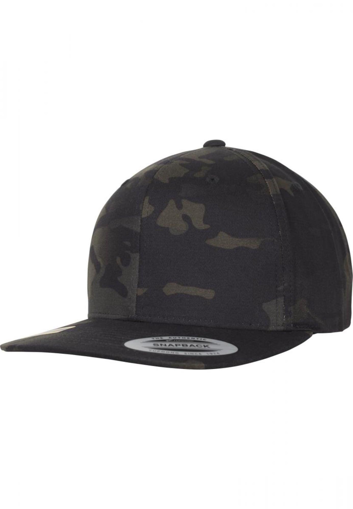 Flexfit Kepurė juoda / tamsiai mėlyna / rusvai žalia