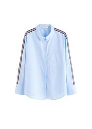MANGO Damen Bluse Ribbon blau,rot | 08432894399069