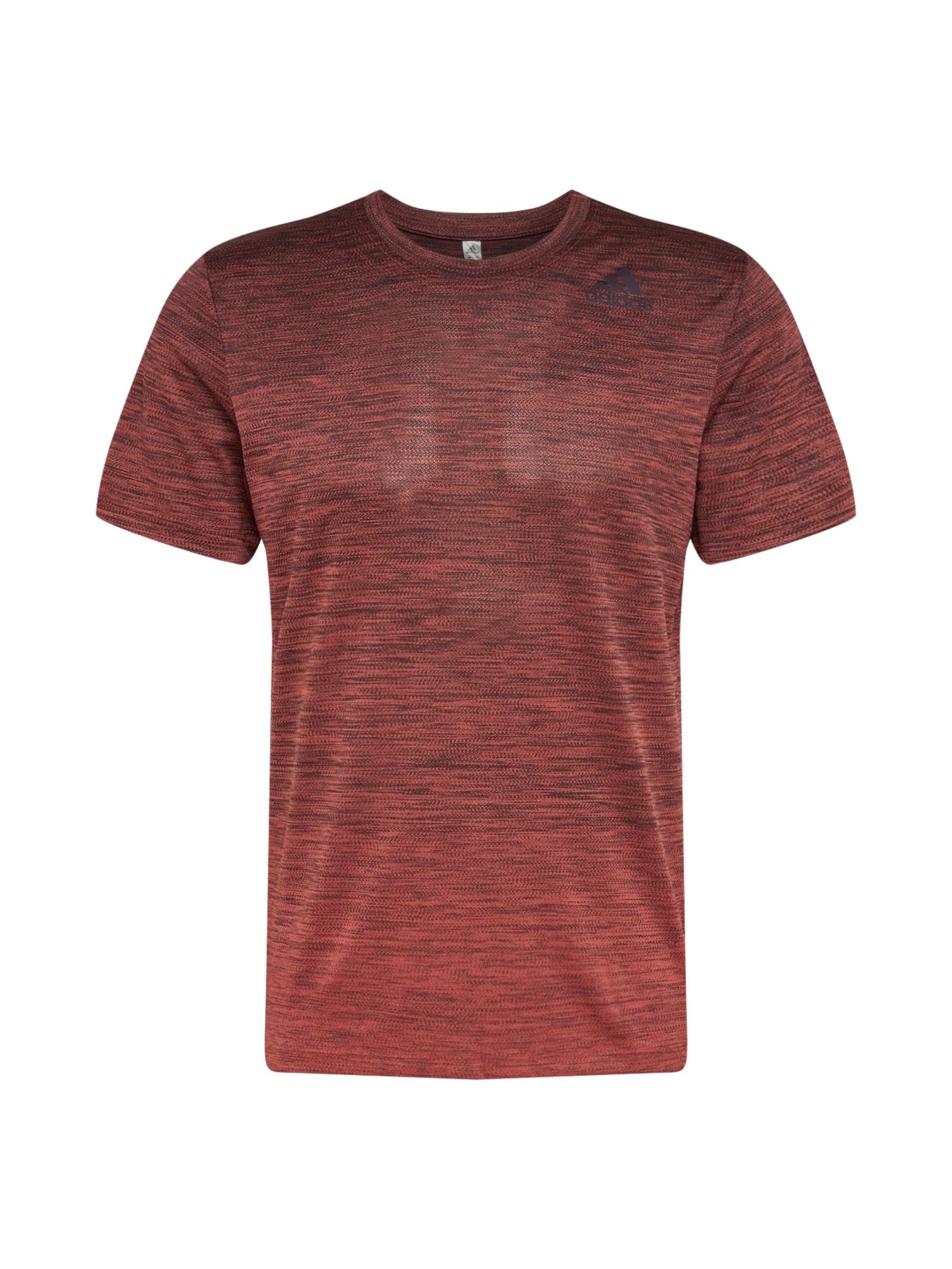 ADIDAS PERFORMANCE Funkční tričko  červený melír