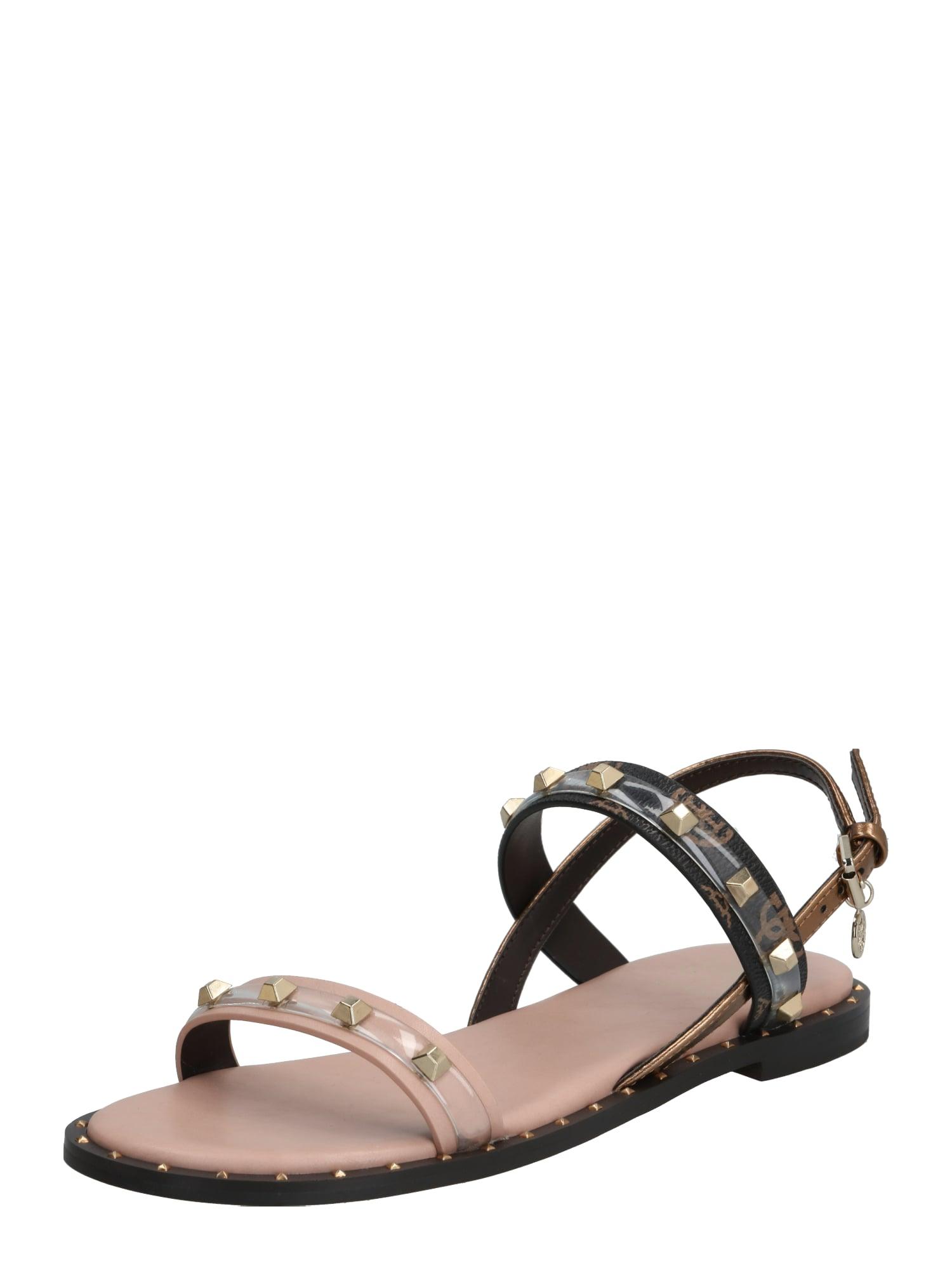 GUESS Remienkové sandále 'OFELIA'  ružová / telová