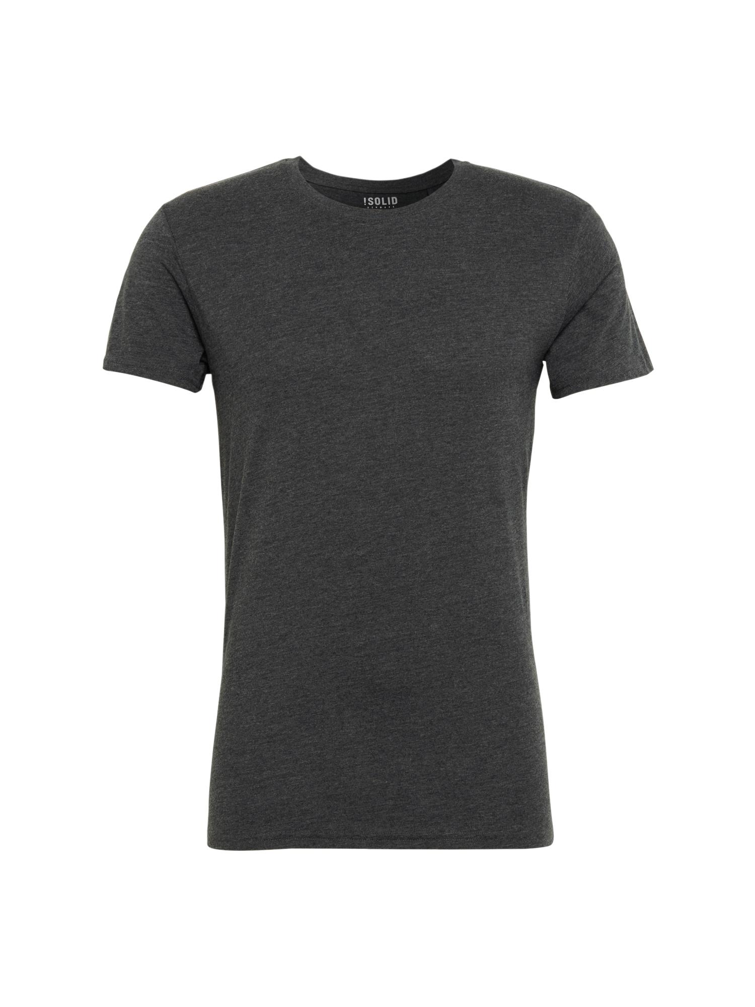 Tričko Rock Melange tmavě šedá !Solid