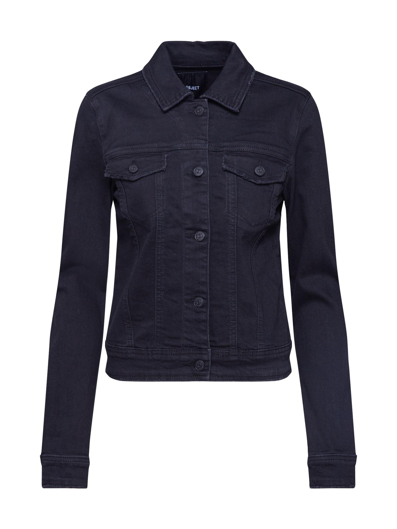 OBJECT Demisezoninė striukė juodo džinso spalva