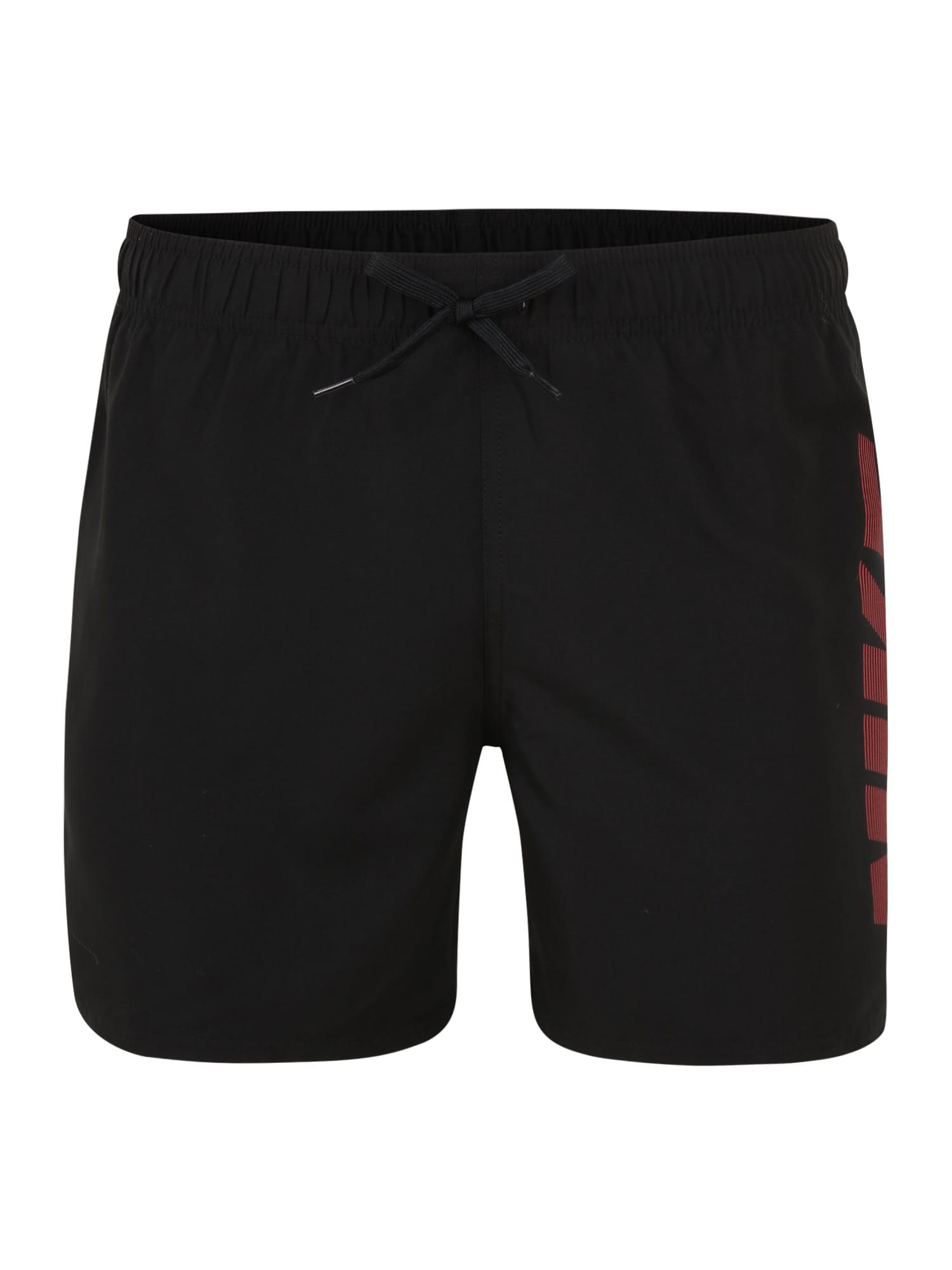 Nike Swim Sportinės glaudės pilka / juoda / tamsiai raudona