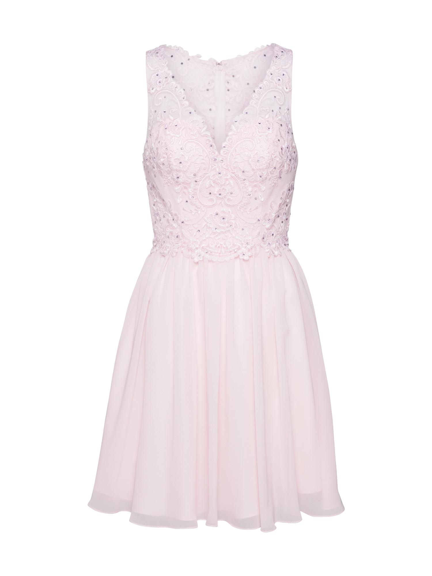 Laona Kokteilinė suknelė balta / rožinė