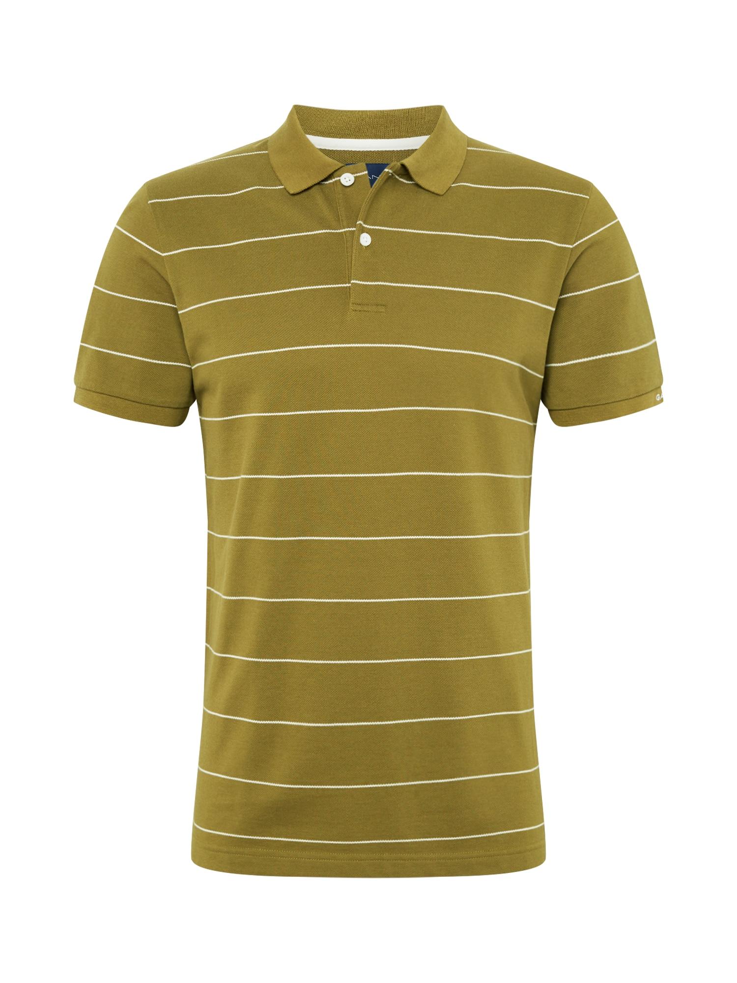 GANT Marškinėliai alyvuogių spalva / balta