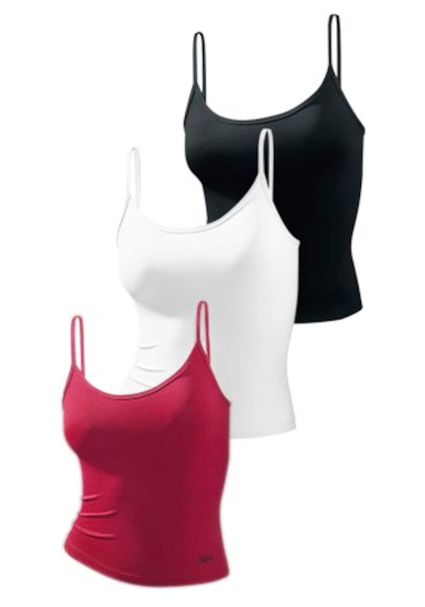 VIVANCE Apatiniai marškinėliai balta / raudona / juoda