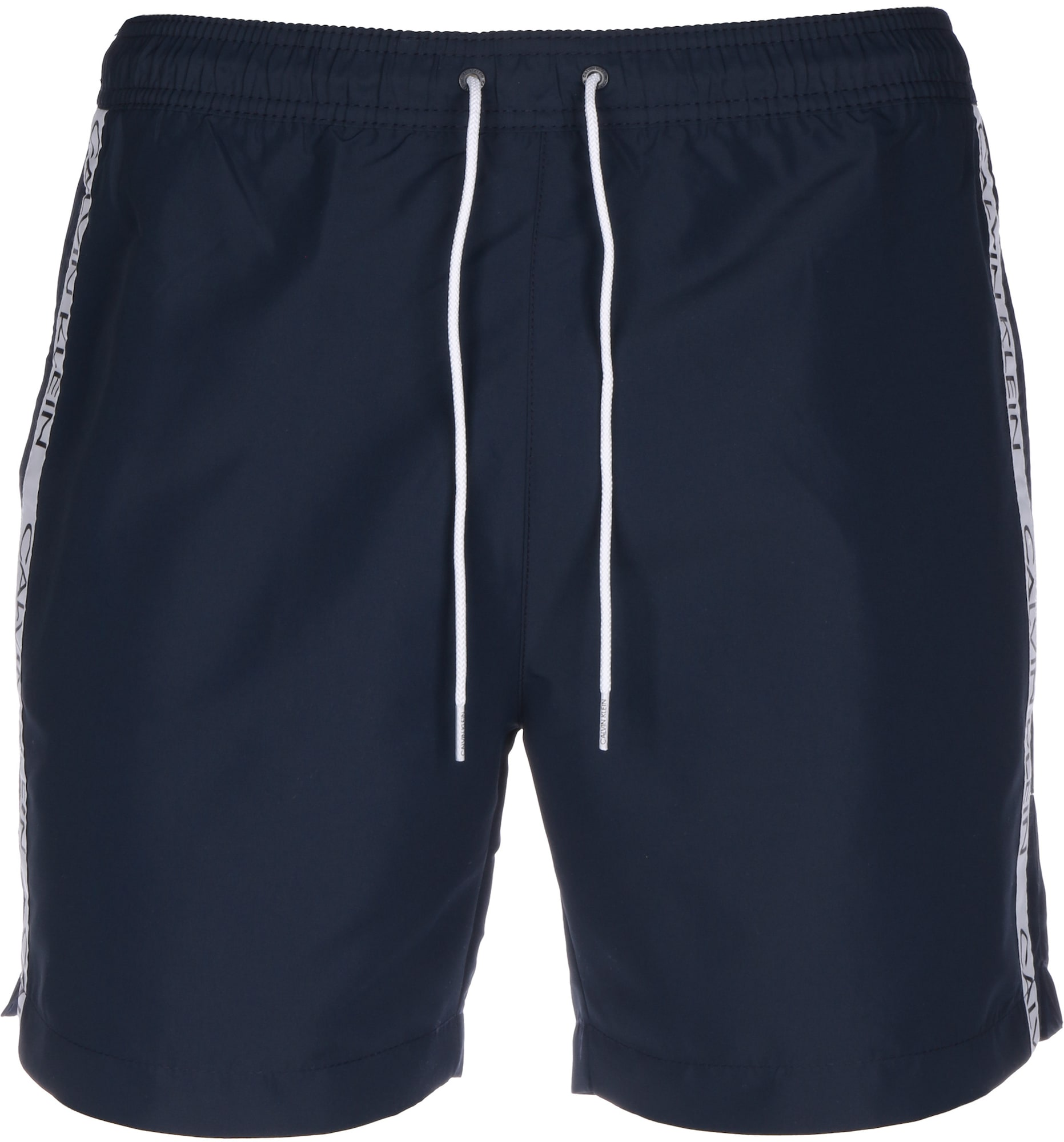 Calvin Klein Swimwear Maudymosi kelnaitės melsvai pilka / balta