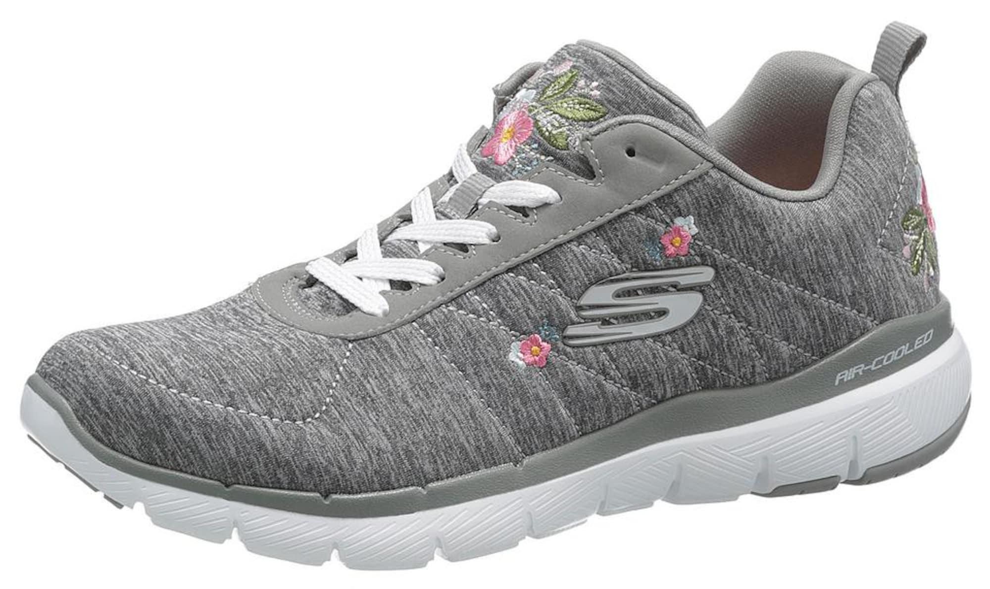buy popular f98bf 3e7b7 AboutYou Damen Skechers Sneaker 'Flex Appeal 3.0' grau, grün, pink, weiß |  00192283979132
