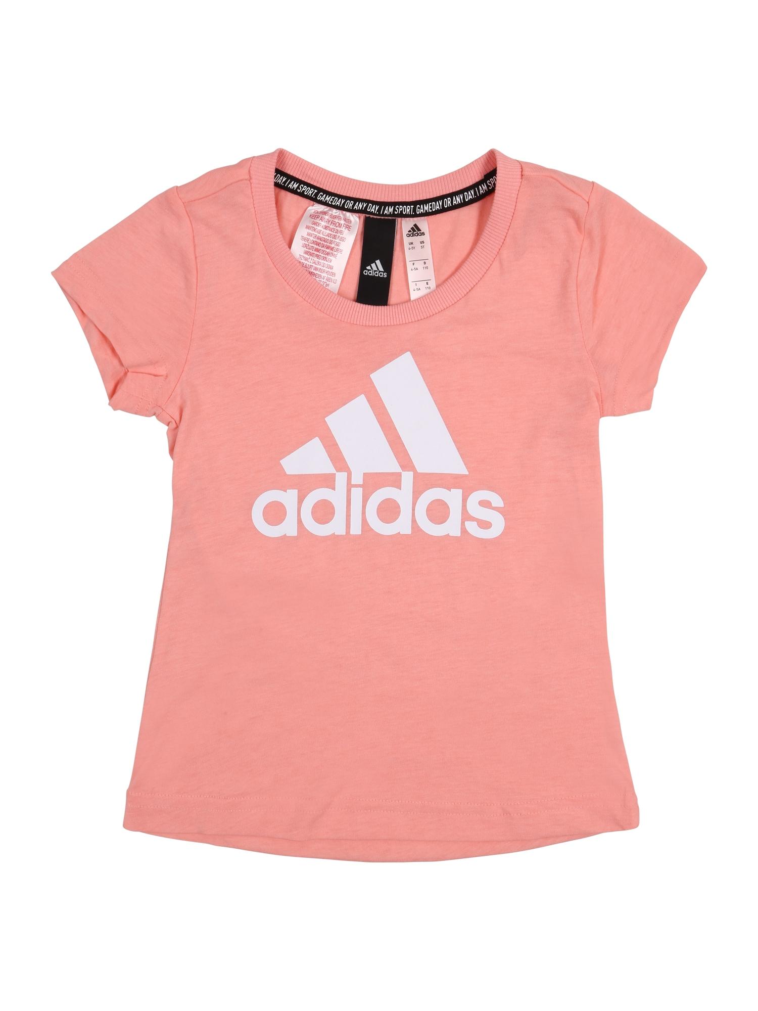 ADIDAS PERFORMANCE Sportiniai marškinėliai 'YG MH BOS TEE' rožinė