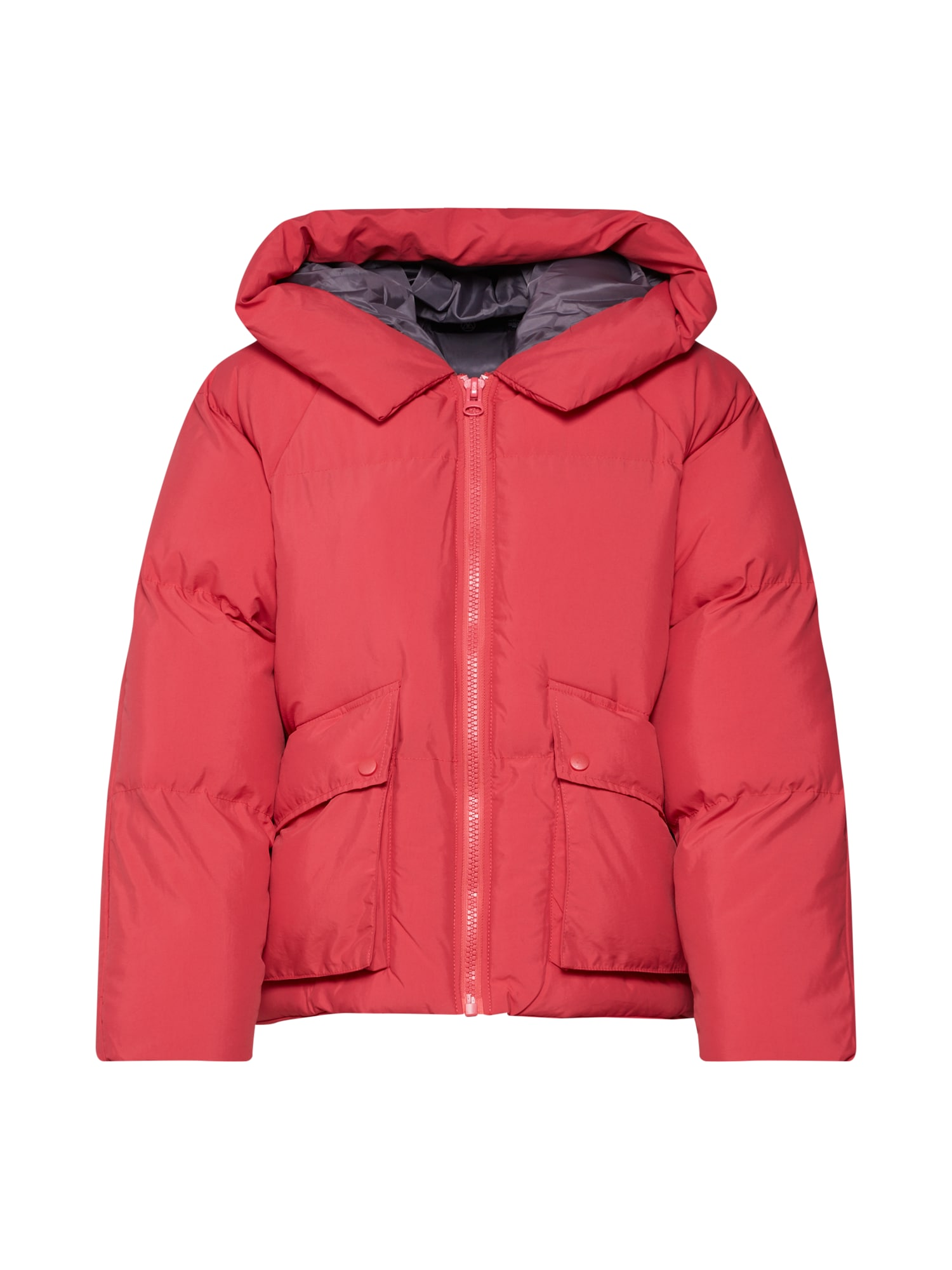 Zimní bunda HOODED ULTIMATE PUFFER JACKET červená Missguided