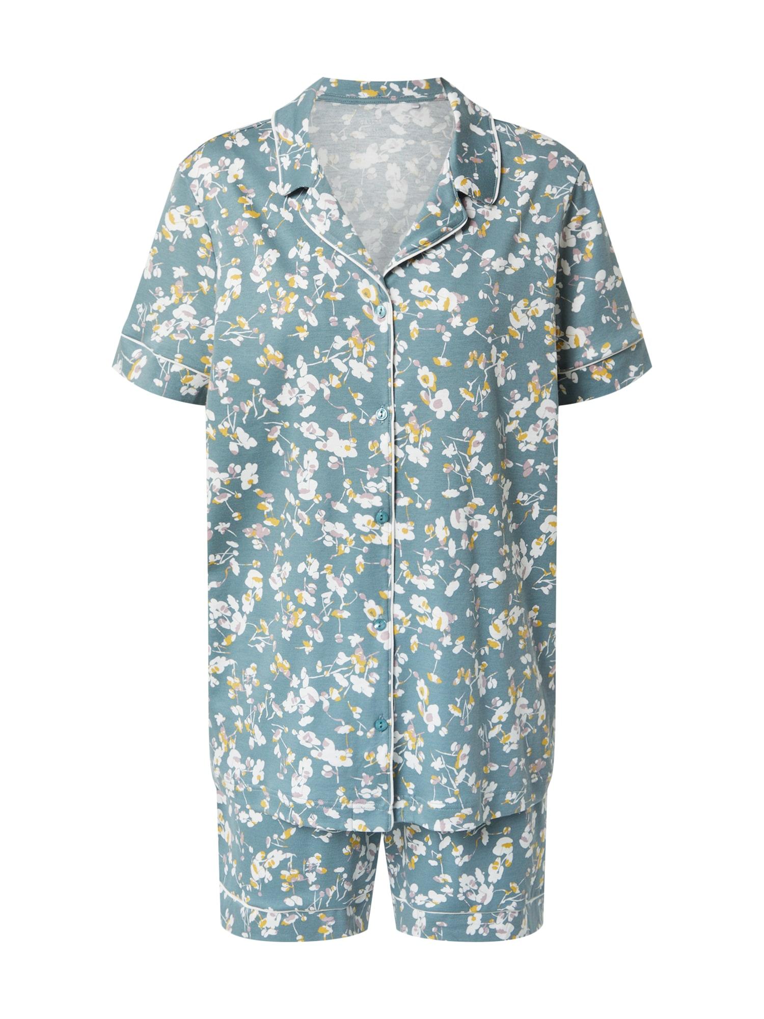 CALIDA Pyžamo  bílá / mátová / mix barev