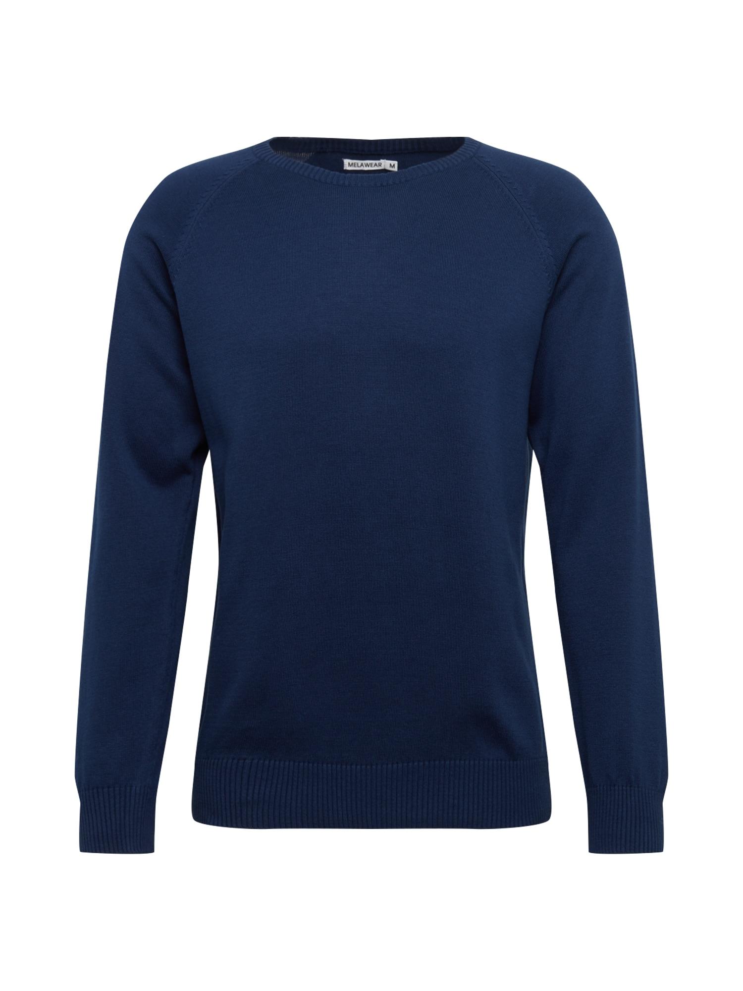 MELAWEAR Megztinis tamsiai mėlyna / mėlyna