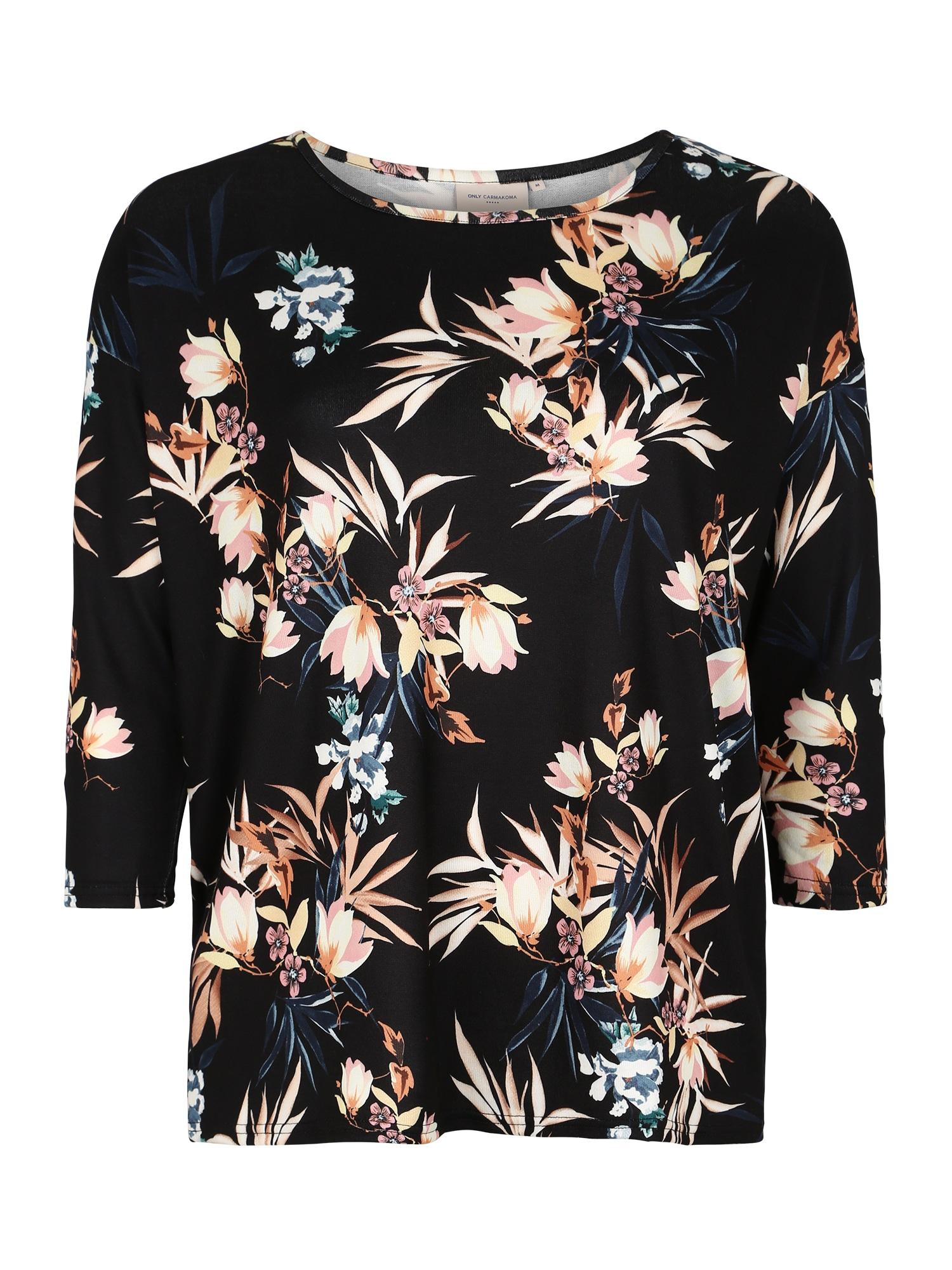ONLY Carmakoma Marškinėliai 'CARALBA' mišrios spalvos / juoda