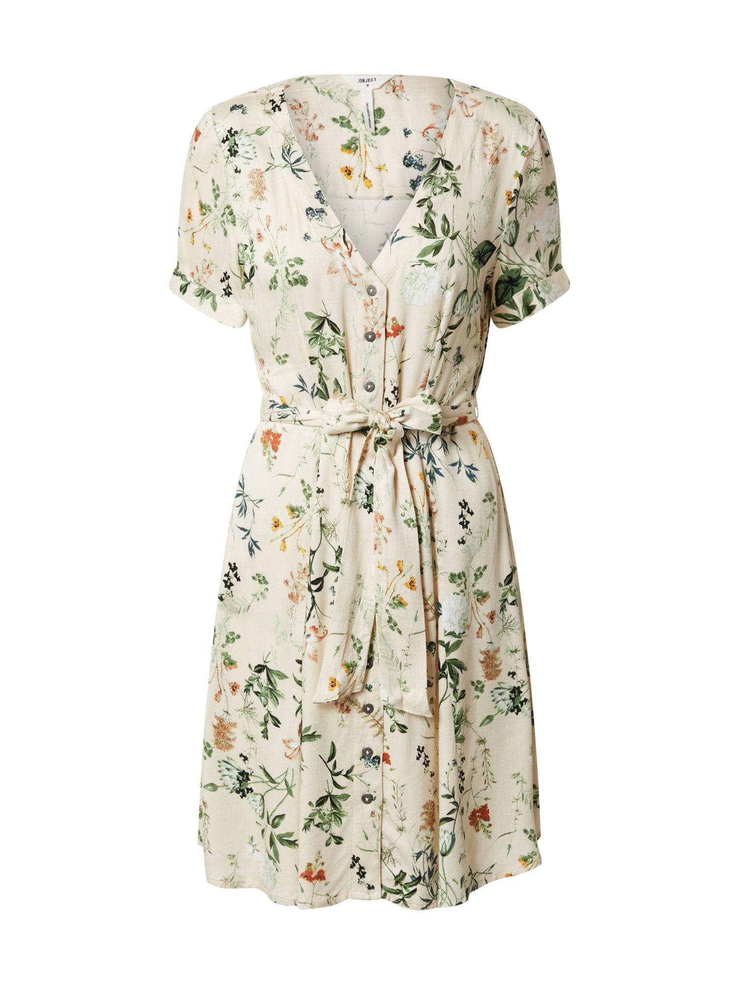 OBJECT Šaty 'OBJALBA'  zelená / biela