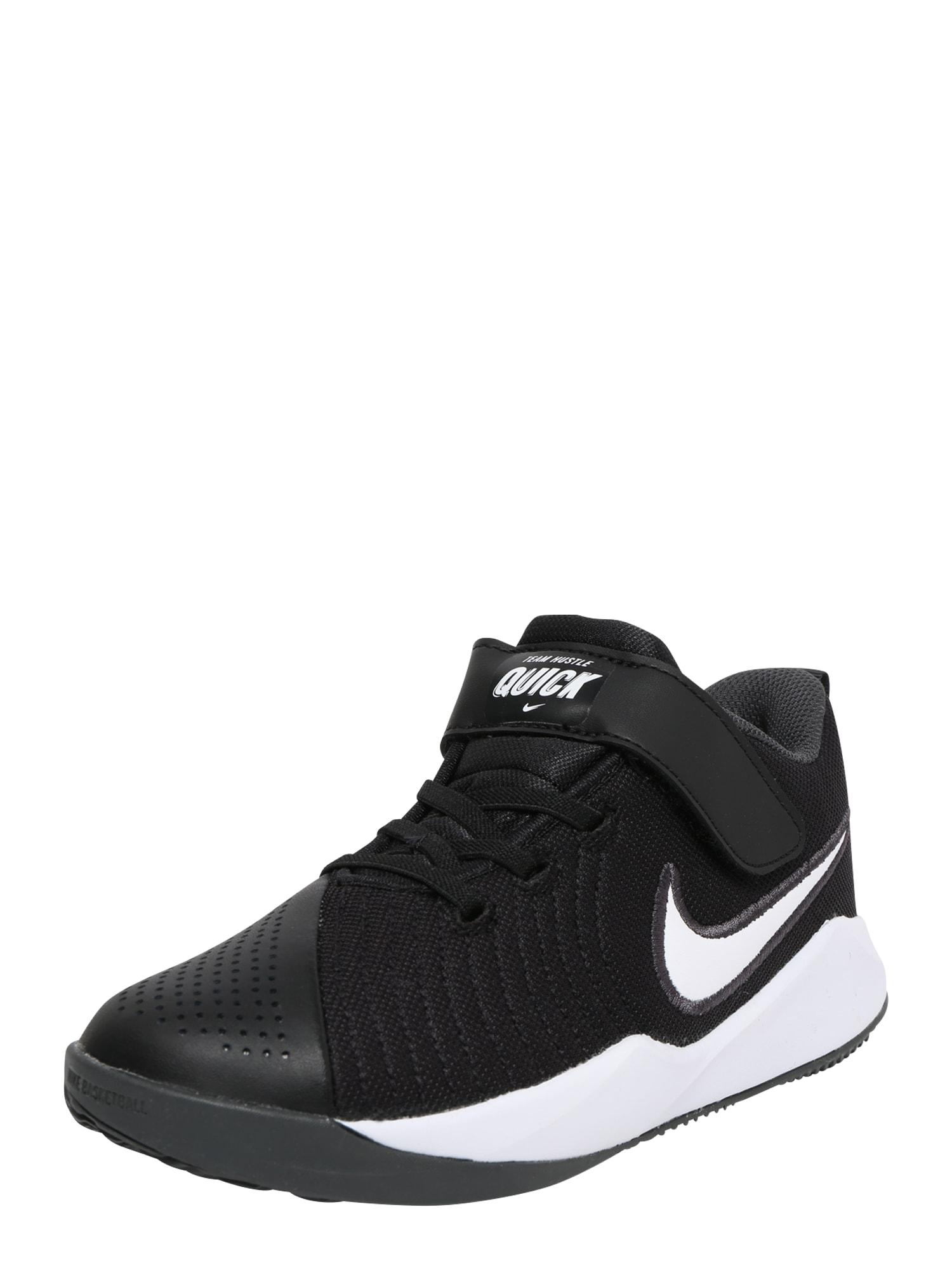 NIKE Sportovní boty 'Team Hustle Quick 2'  bílá / černá