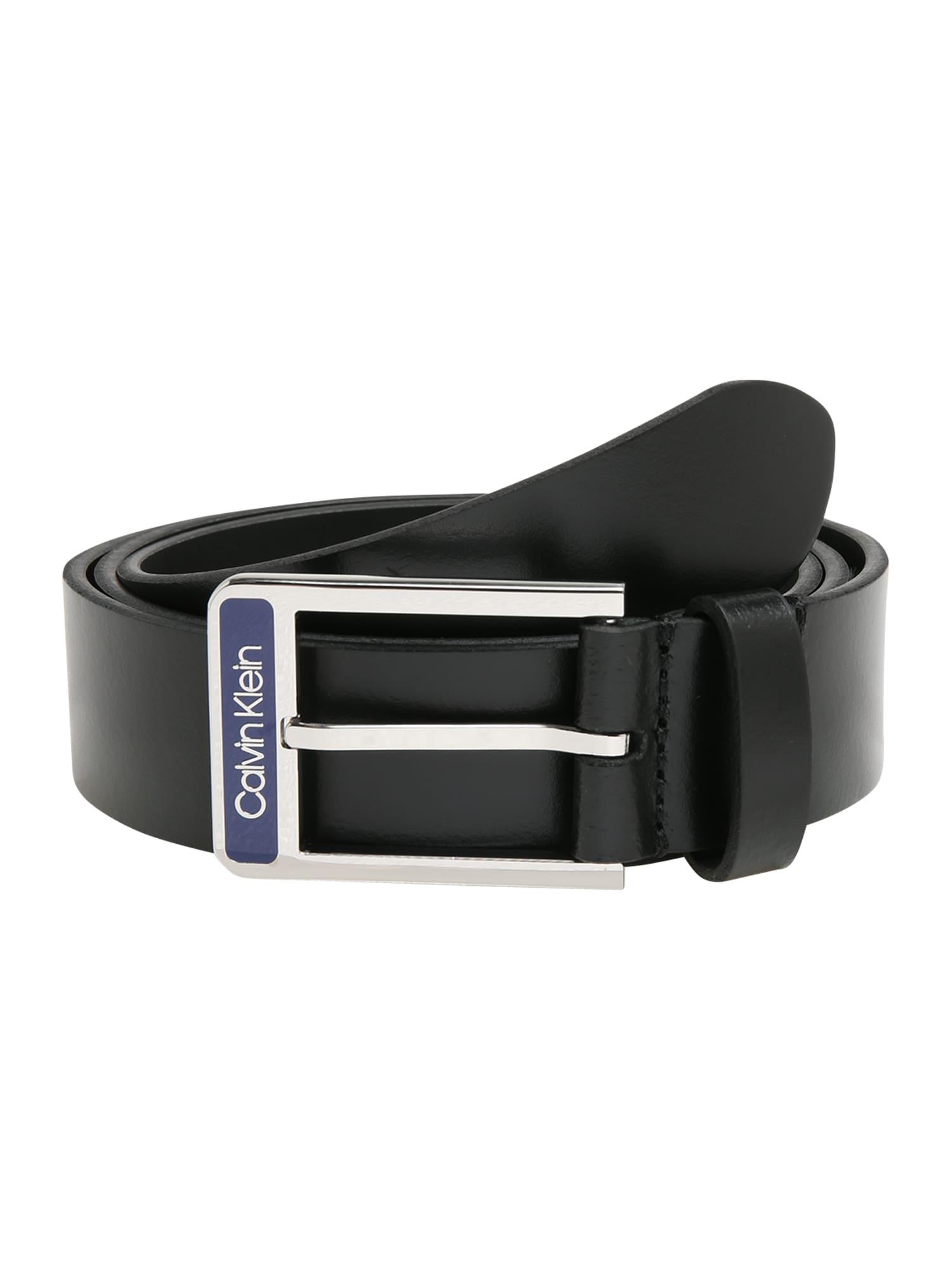 Calvin Klein Diržas '35MM ENAMEL BUCKLE SMOOTH' juoda