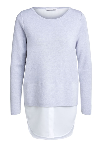 Oberteile - Pullover › Oui › hellgrau weiß  - Onlineshop ABOUT YOU
