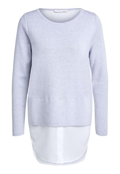 Oberteile für Frauen - OUI Pullover hellgrau weiß  - Onlineshop ABOUT YOU