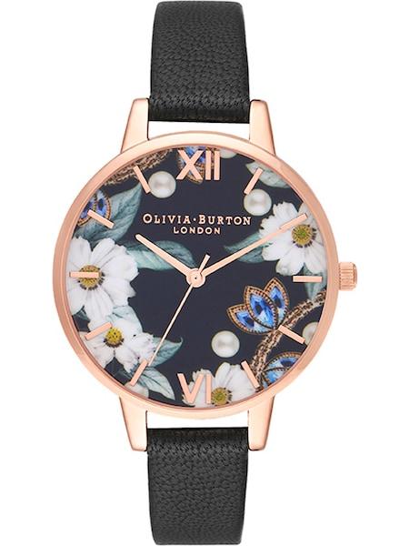 Uhren für Frauen - Uhr 'Florals OB16GSET24' › Olivia Burton › saphir rosegold schwarz weiß  - Onlineshop ABOUT YOU