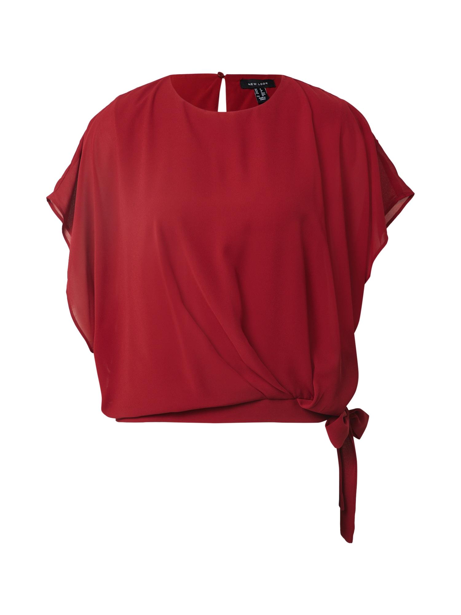NEW LOOK Marškinėliai vyšninė spalva