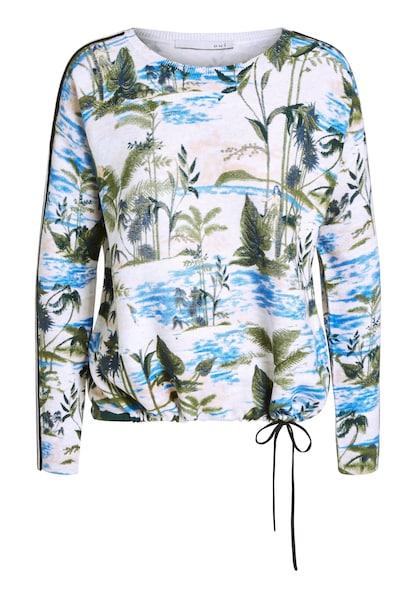 Oberteile für Frauen - OUI Pullover royalblau dunkelblau grün weiß  - Onlineshop ABOUT YOU