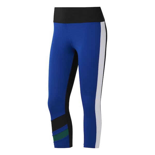 Hosen für Frauen - Sport Tights 'Workout Ready Colorblock Capris ' › Reebok › blau  - Onlineshop ABOUT YOU