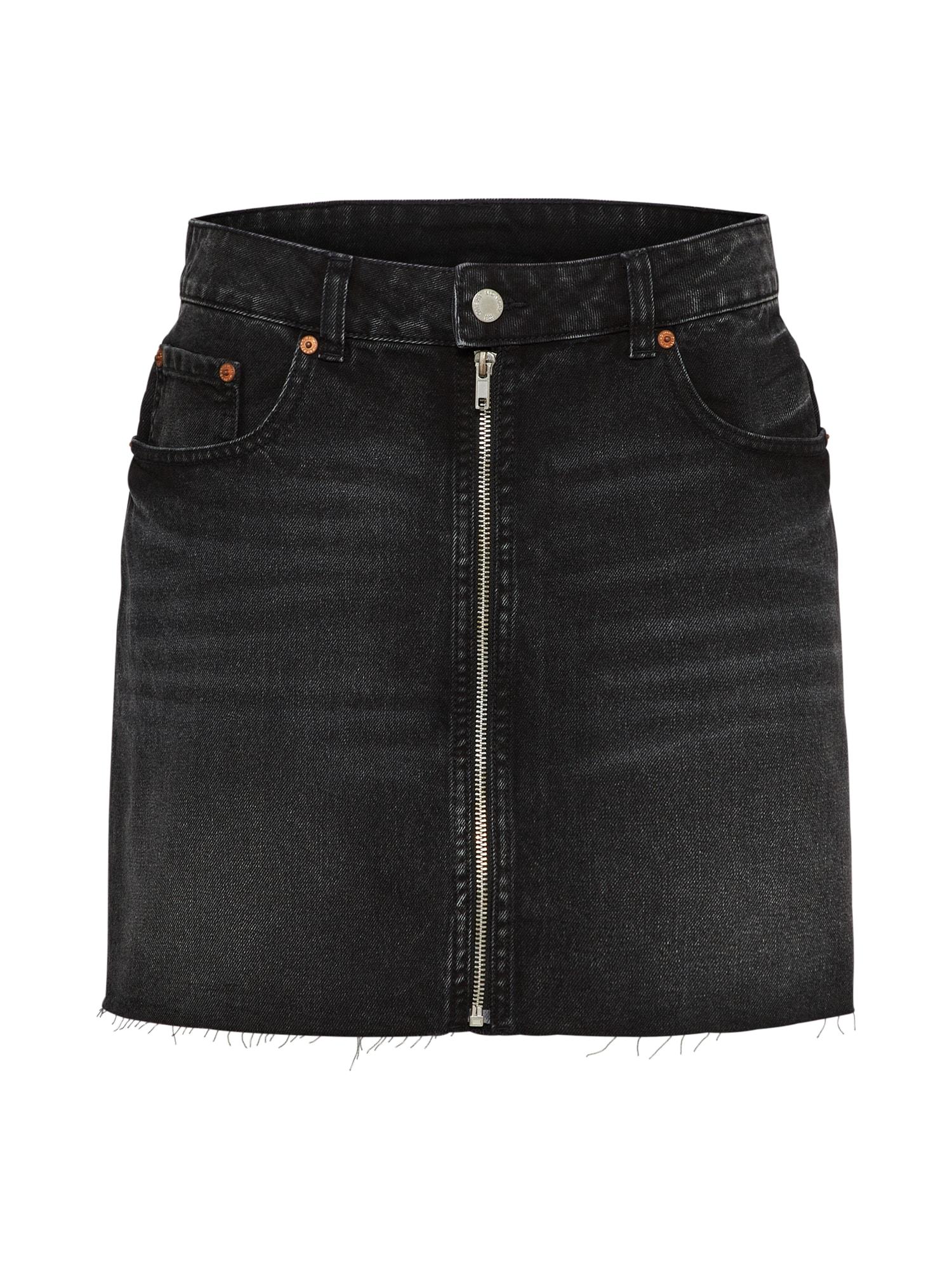 Sukně Zip short skirt černá džínovina CHEAP MONDAY