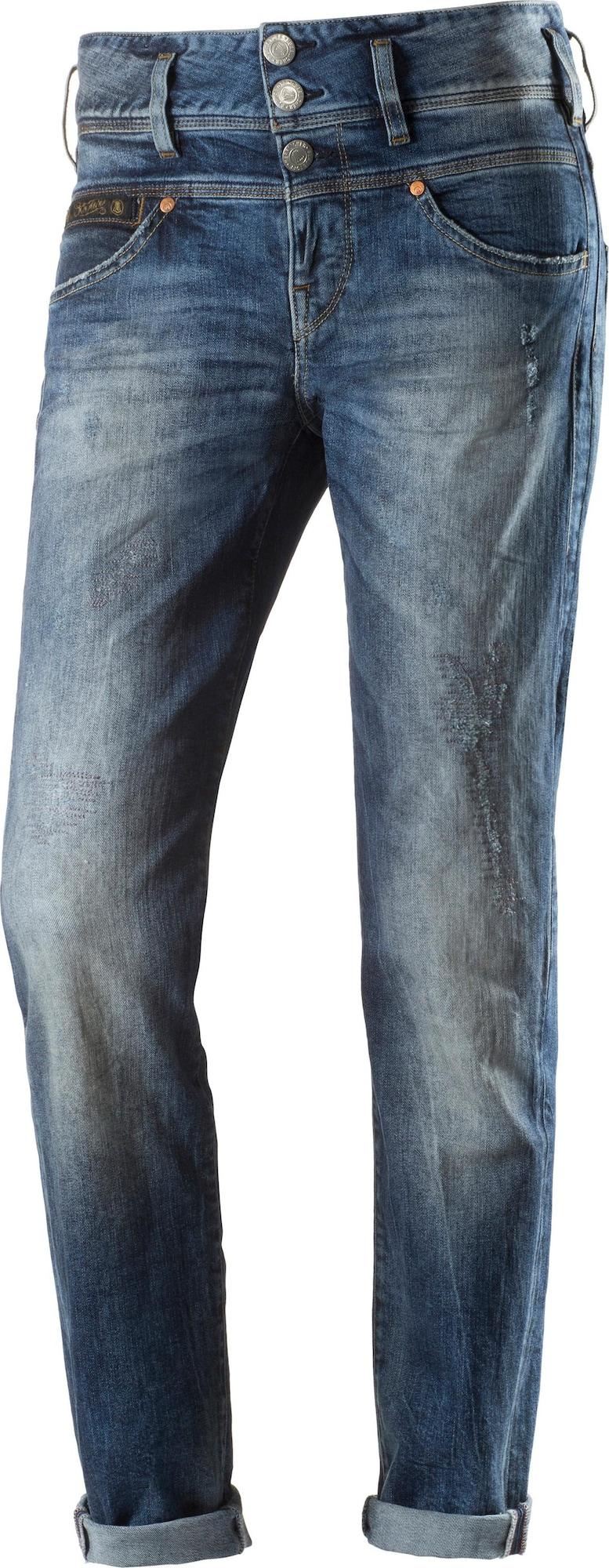 herrlicher 39 raya 39 boyfriend jeans damen in blau. Black Bedroom Furniture Sets. Home Design Ideas
