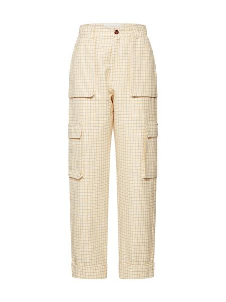 Hosen für Frauen - POSTYR Hose beige apricot  - Onlineshop ABOUT YOU