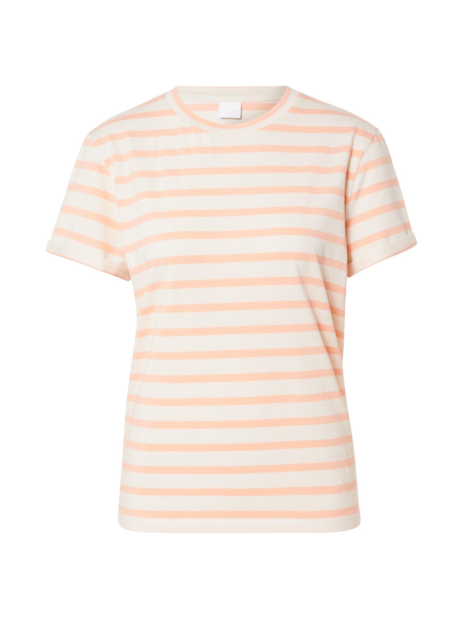 BOSS Marškinėliai 'Tespring' oranžinė / balta