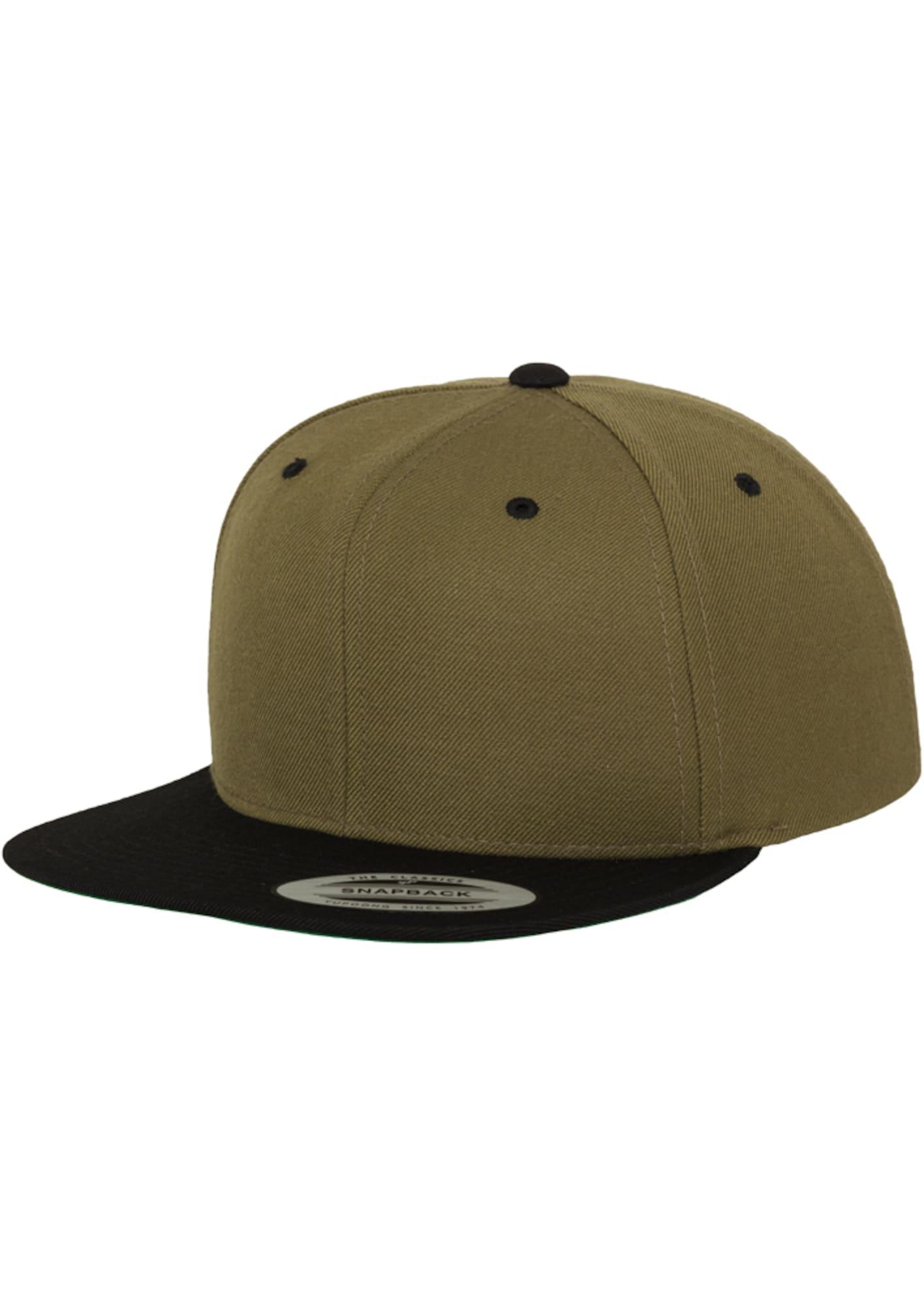 Flexfit Kepurė alyvuogių spalva / juoda
