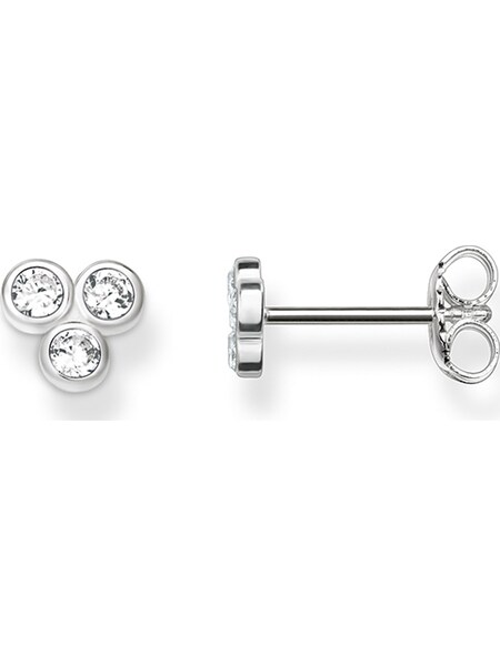 Ohrringe für Frauen - Thomas Sabo Ohrstecker silber transparent  - Onlineshop ABOUT YOU