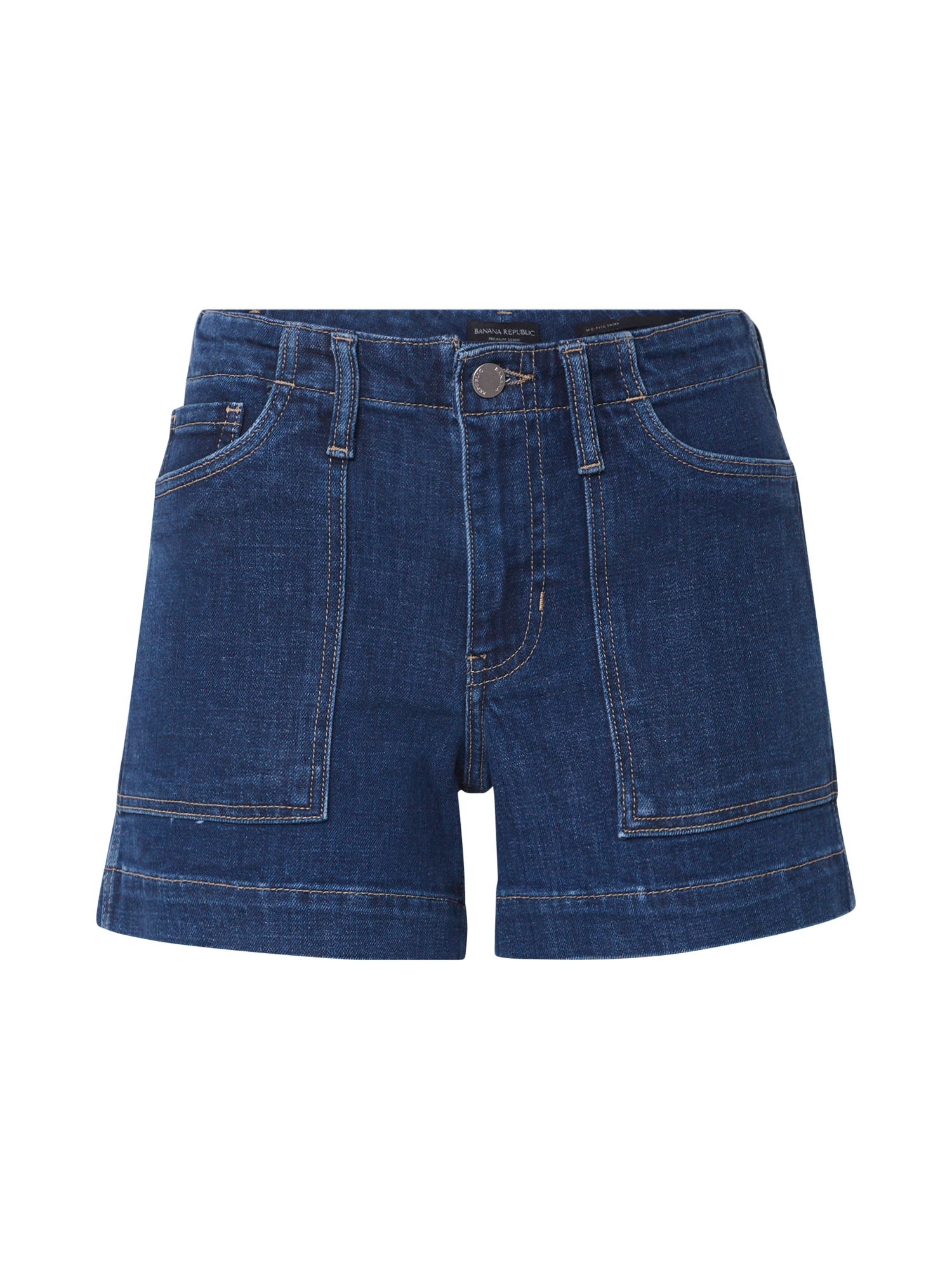 Banana Republic Džinsai 'MR SCOUT DENIM SHORT' tamsiai (džinso) mėlyna