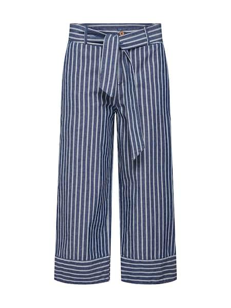 Hosen für Frauen - EDC BY ESPRIT Culotte dunkelblau weiß  - Onlineshop ABOUT YOU
