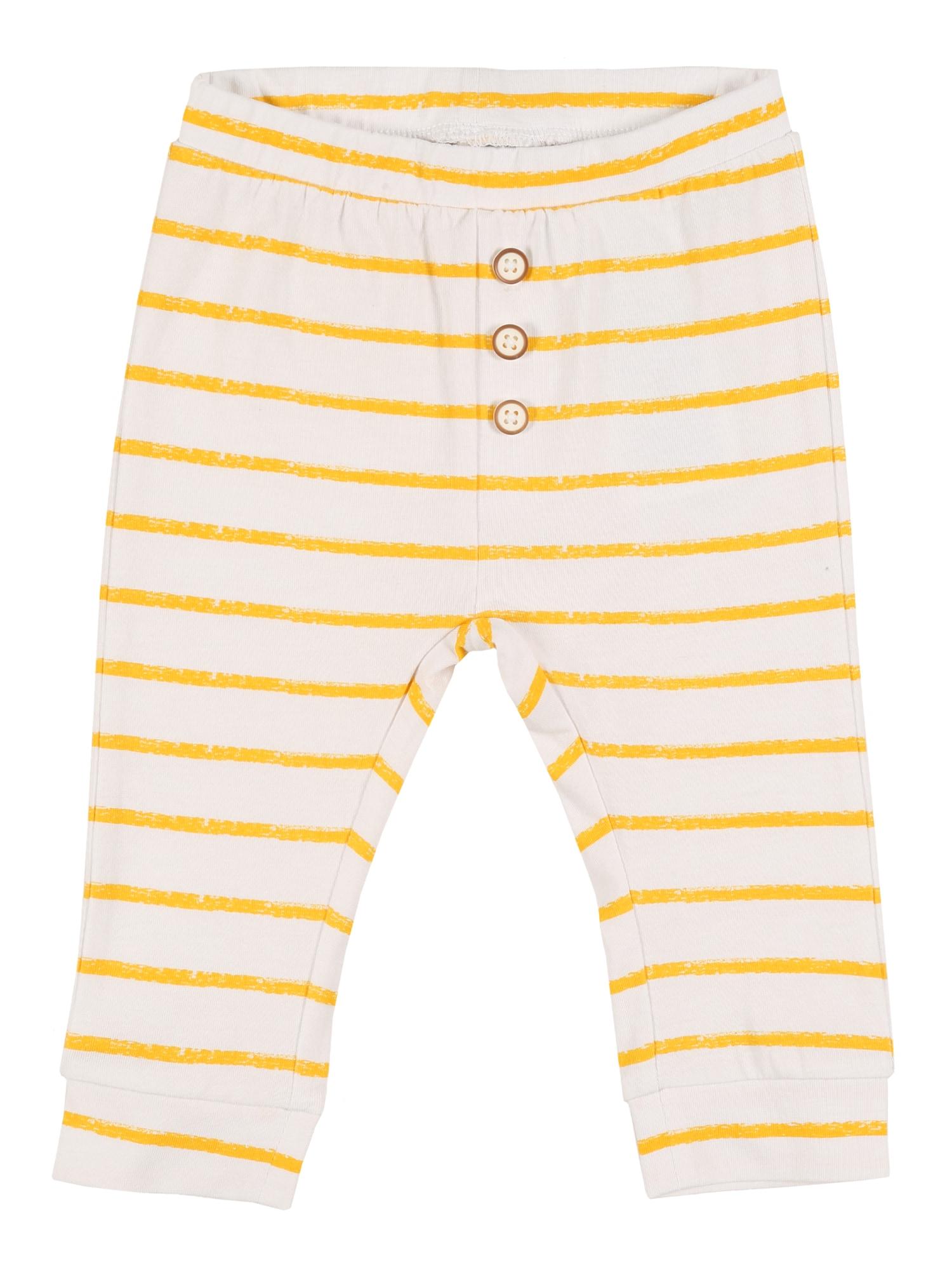 NAME IT Kalhoty 'NBNUNNAHE'  bílá / žlutá